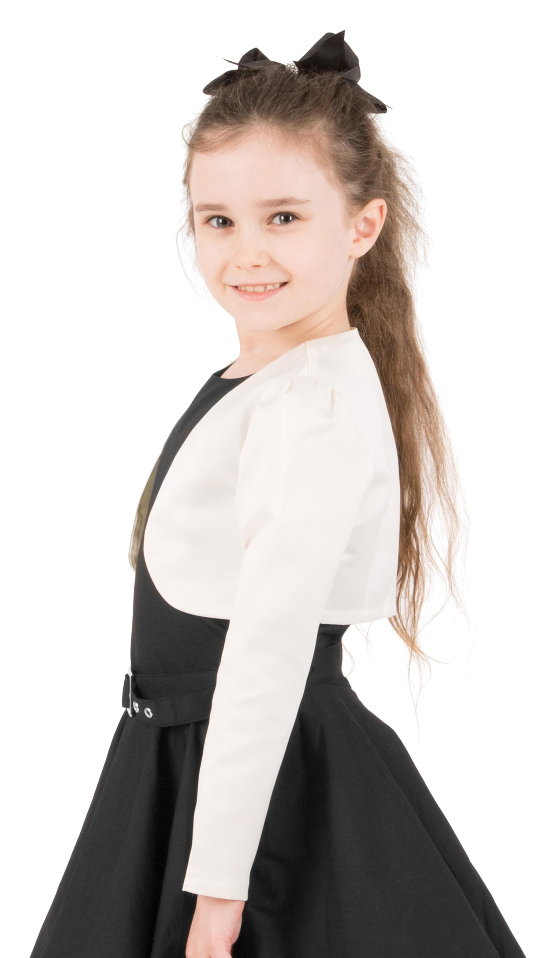 Girls-Long-Sleeve-Party-Bridesmaid-Prom-Bolero-Shrug miniatuur 31