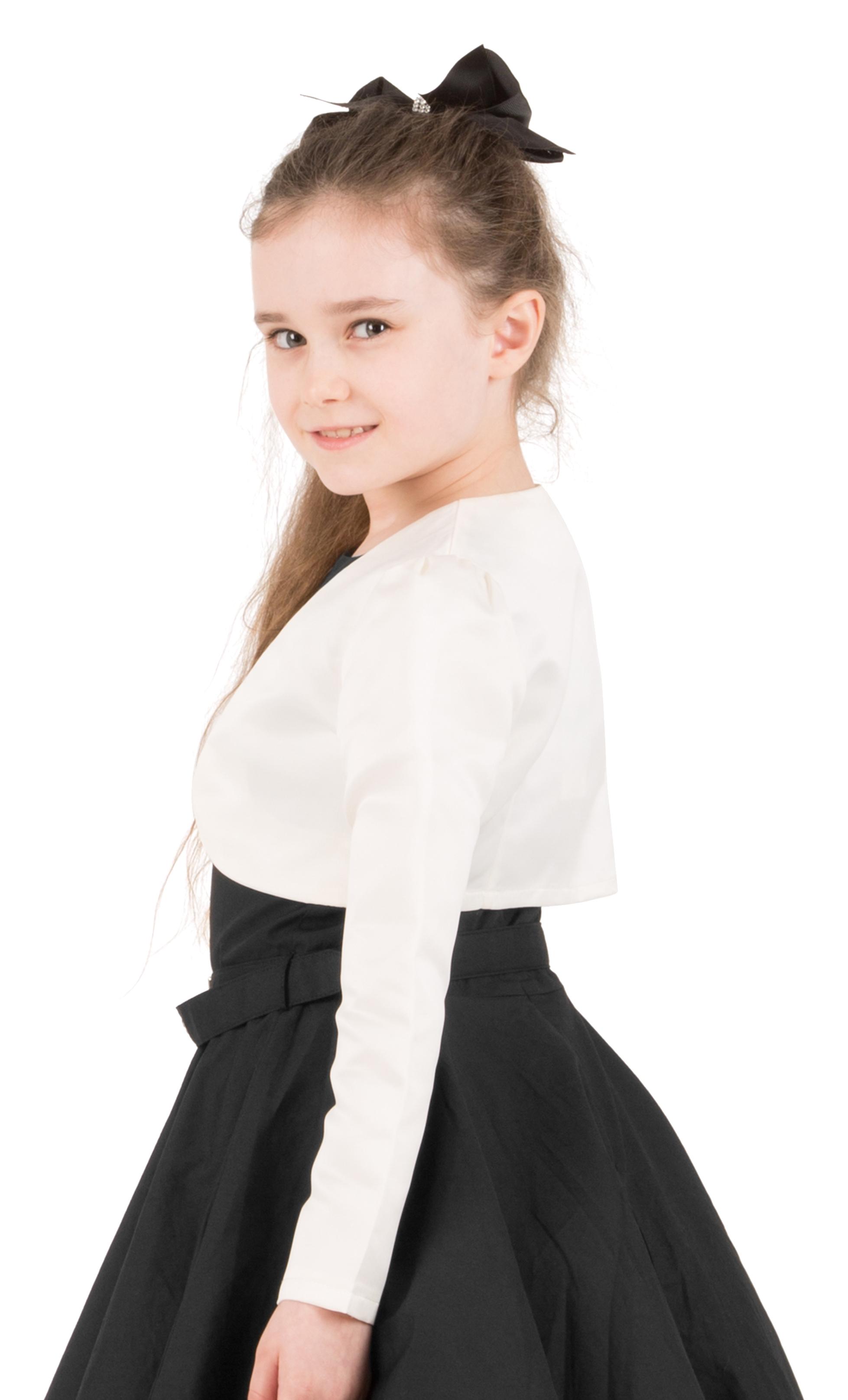 Girls-Long-Sleeve-Party-Bridesmaid-Prom-Bolero-Shrug miniatuur 32