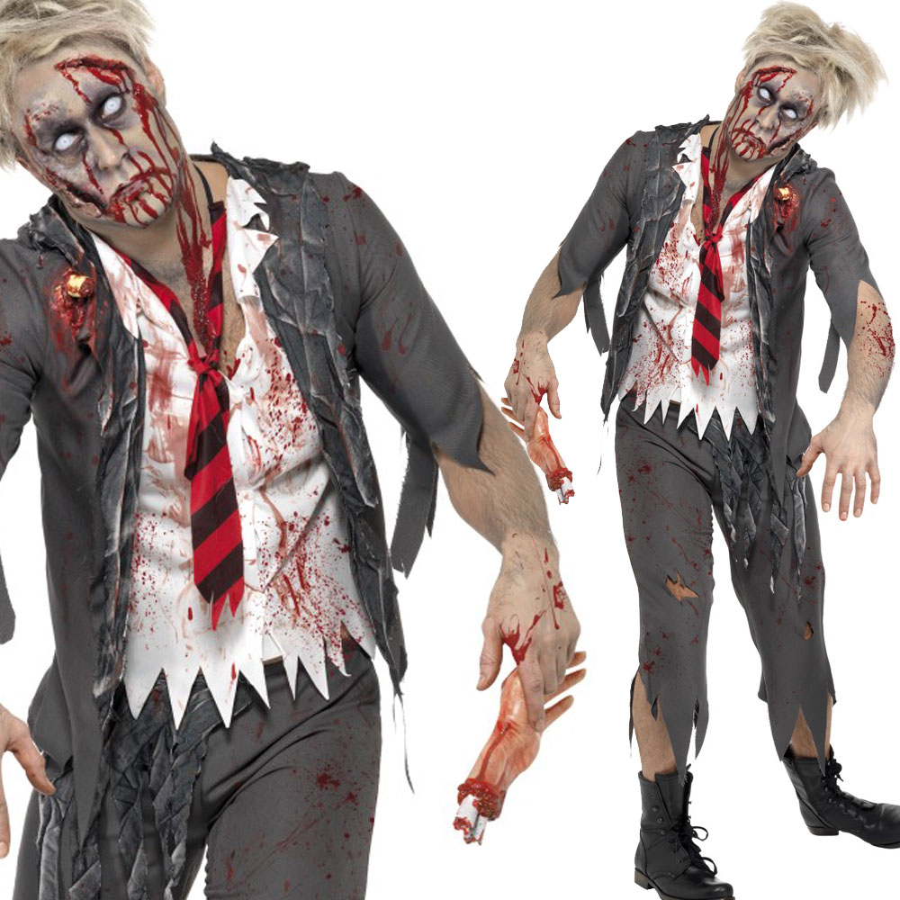 halloween zombie kost m herren damen zombies wandern dead outfit ebay. Black Bedroom Furniture Sets. Home Design Ideas