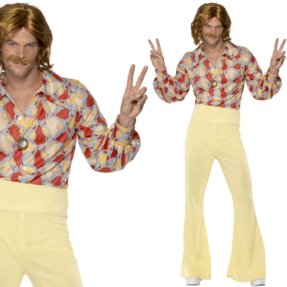 Mens Hippy Fancy Dress Costume 1960s / 60s Hippie Man ...