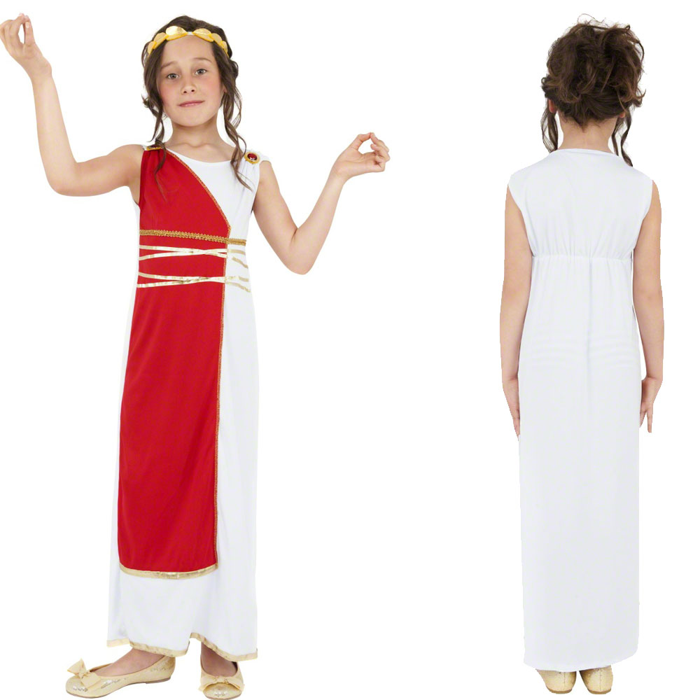 Girls roman toga age 7 12 boys roman fighter fancy dress costume girls roman toga age 7 12 boys roman solutioingenieria Image collections