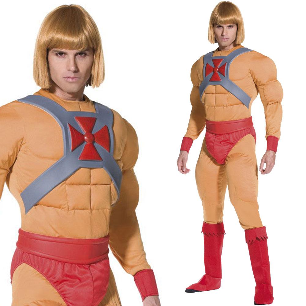 He-Man-Fancy-Dress-Costume-Mens-Superhero-Skeletor-  sc 1 st  eBay & He Man Fancy Dress Costume Mens Superhero Skeletor Villain 80s ...