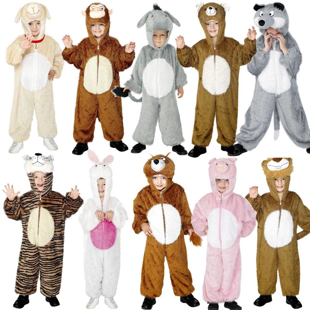 Childrens Zoo Farm Jungle Animal Suit Fancy Dress