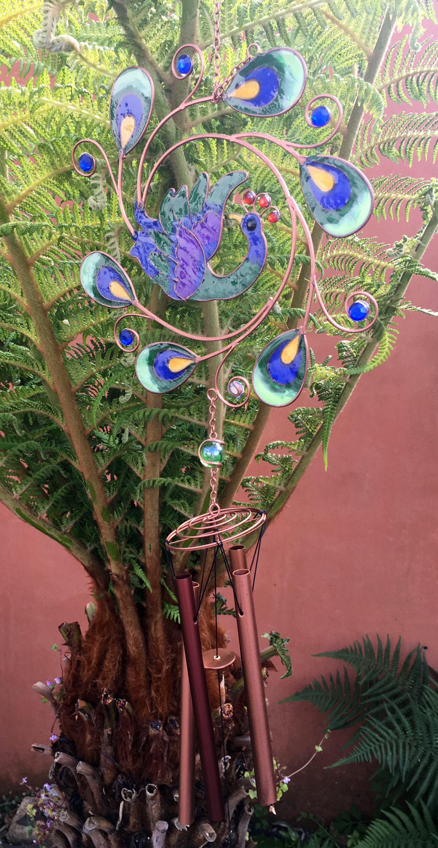Large-Metal-amp-Glass-Hanging-Sun-Catcher-Wind-Chime-Home-Garden-Decorations thumbnail 47