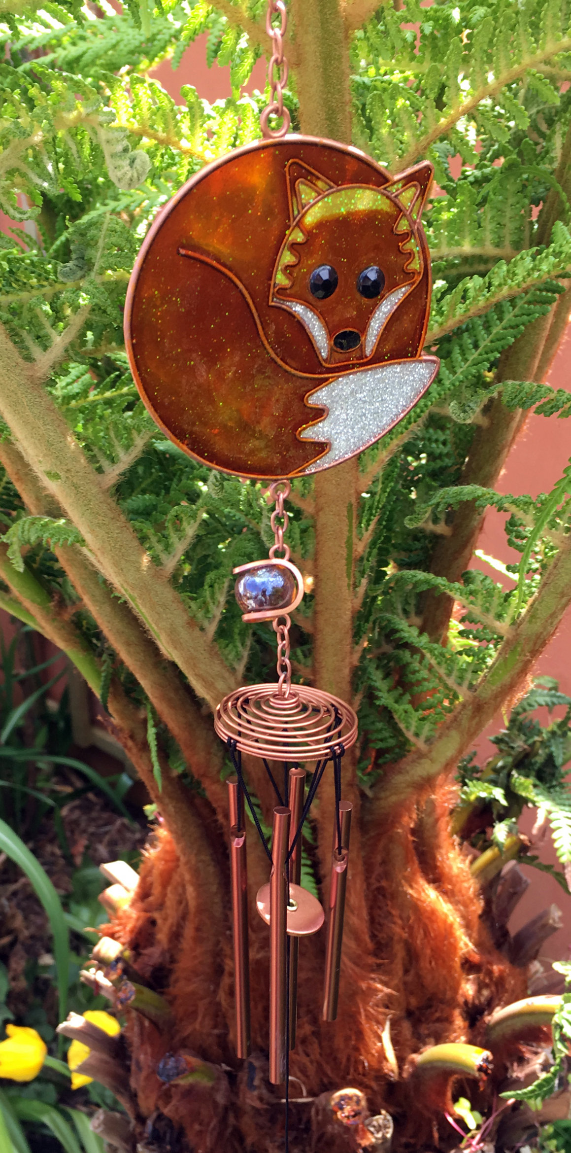 Large-Metal-amp-Glass-Hanging-Sun-Catcher-Wind-Chime-Home-Garden-Decorations thumbnail 30