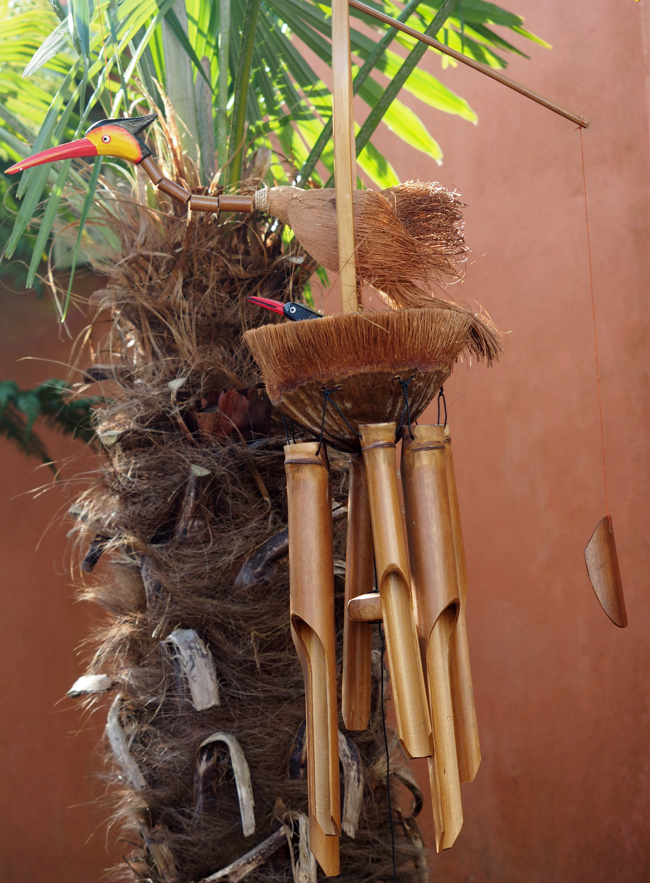 Large-Handmade-Fair-Trade-Coconut-And-Bamboo-Wind-Chime-Mobiles-6-Designs miniatuur 5