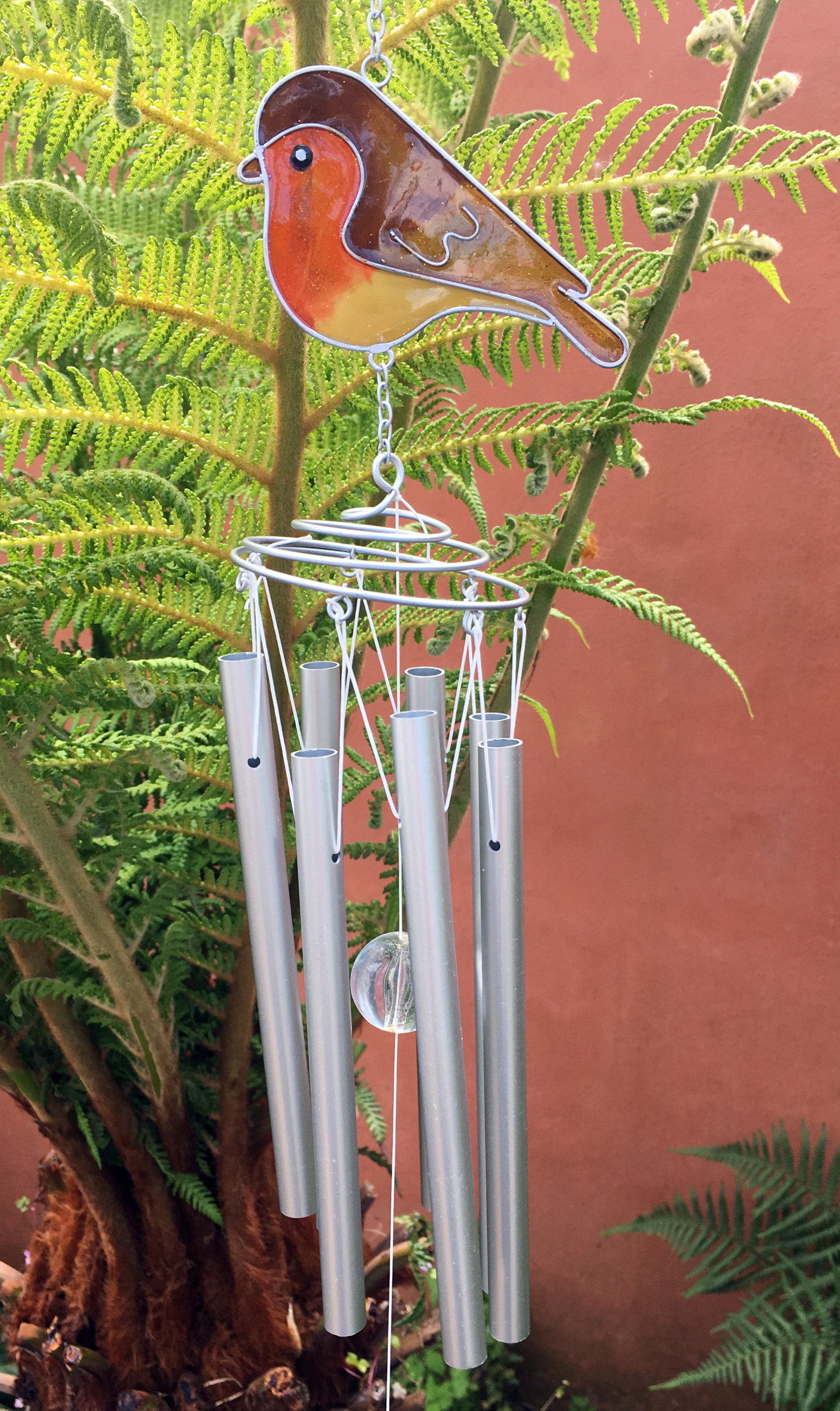 Large-Metal-amp-Glass-Hanging-Sun-Catcher-Wind-Chime-Home-Garden-Decorations thumbnail 3