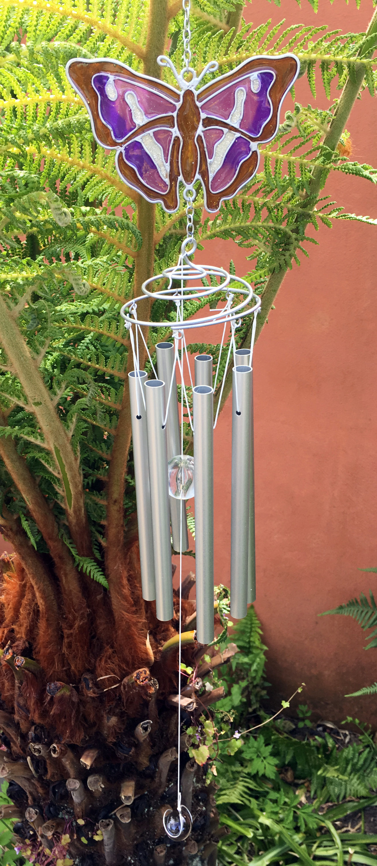 Large-Metal-amp-Glass-Hanging-Sun-Catcher-Wind-Chime-Home-Garden-Decorations thumbnail 26
