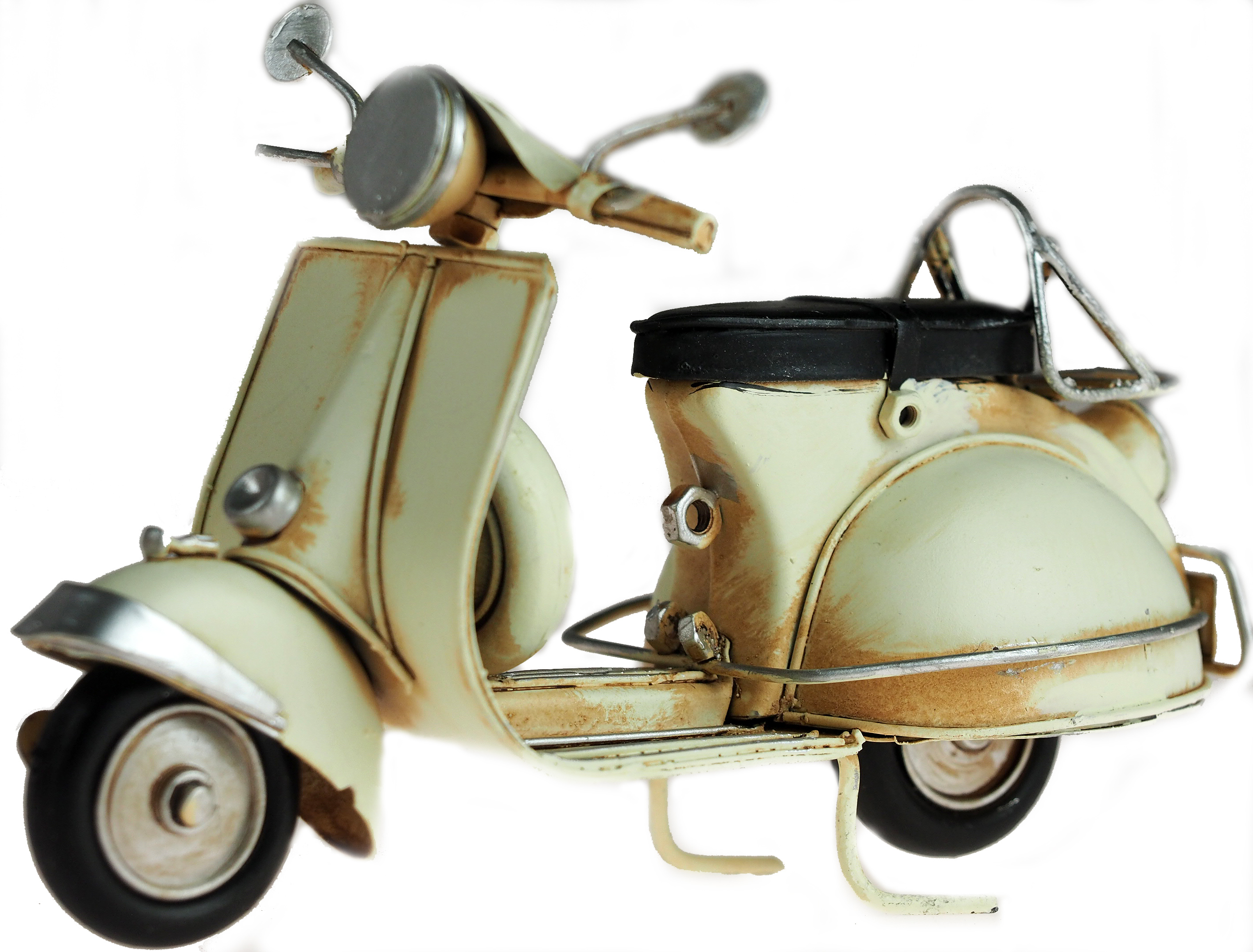 Vintage Style Mod Modern Living Vespa Lambretta Scooter Metal Wall Plaque Sign