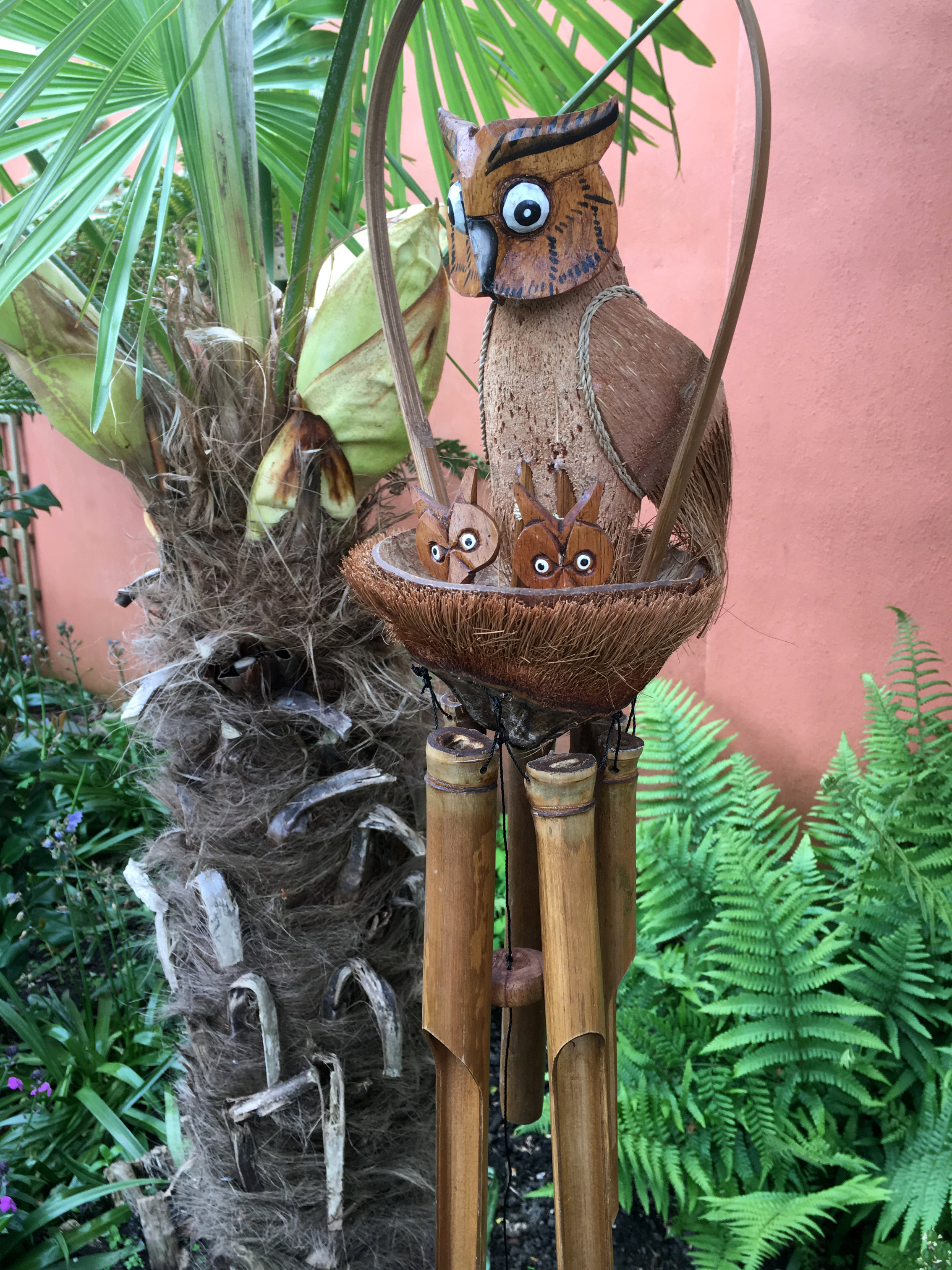 Large-Handmade-Fair-Trade-Coconut-And-Bamboo-Wind-Chime-Mobiles-6-Designs miniatuur 23