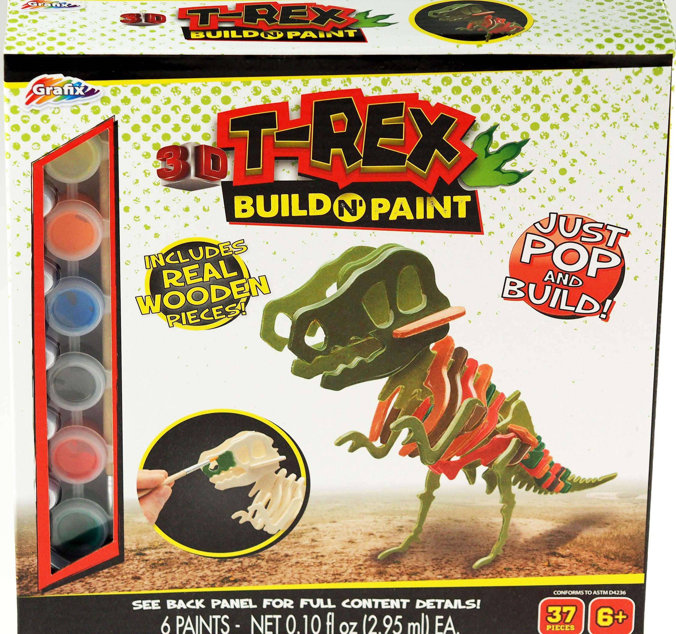 Wood Construction T-Rex Dinosaur Building Kit