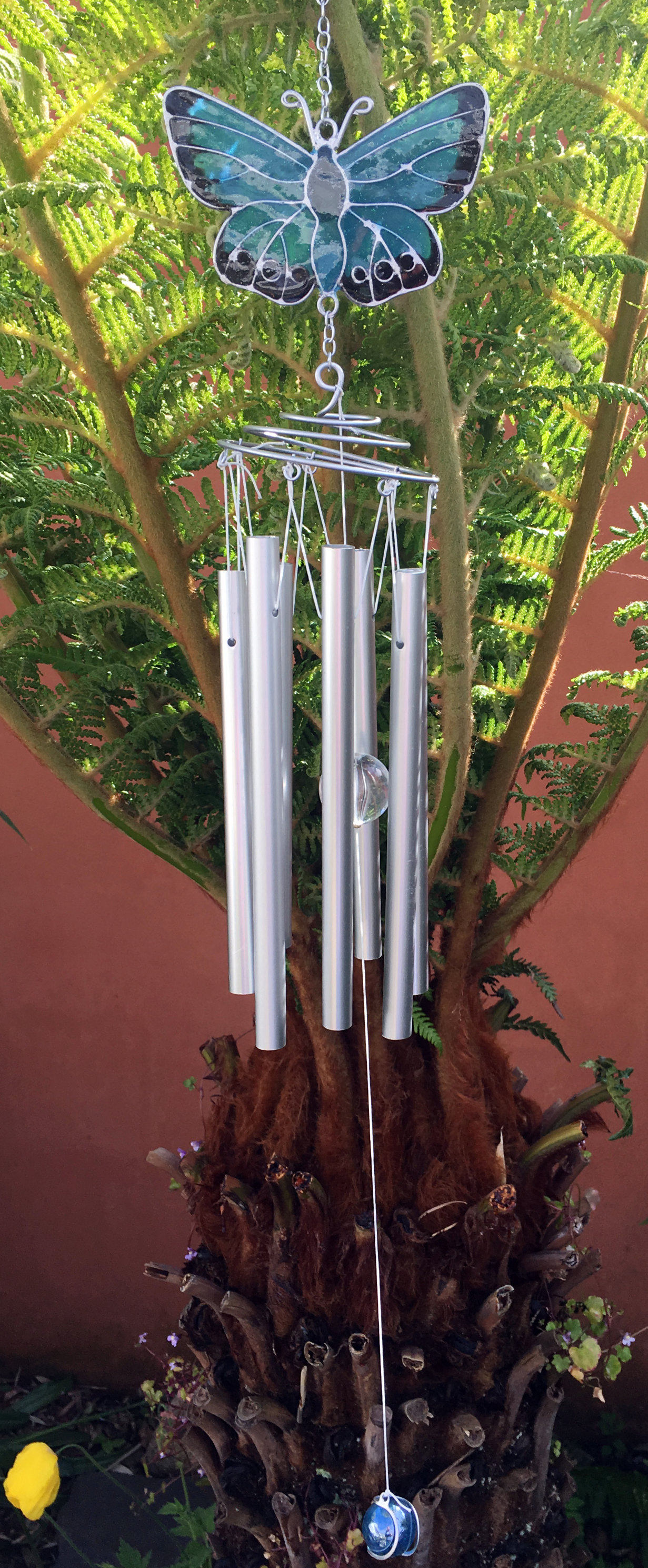 Large-Metal-amp-Glass-Hanging-Sun-Catcher-Wind-Chime-Home-Garden-Decorations thumbnail 18