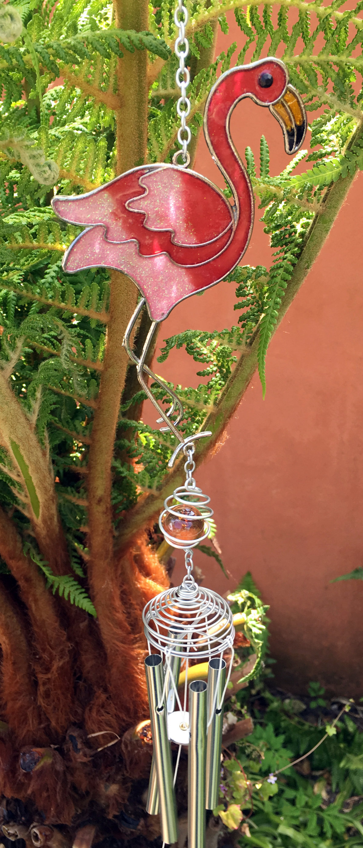 Large-Metal-amp-Glass-Hanging-Sun-Catcher-Wind-Chime-Home-Garden-Decorations thumbnail 5