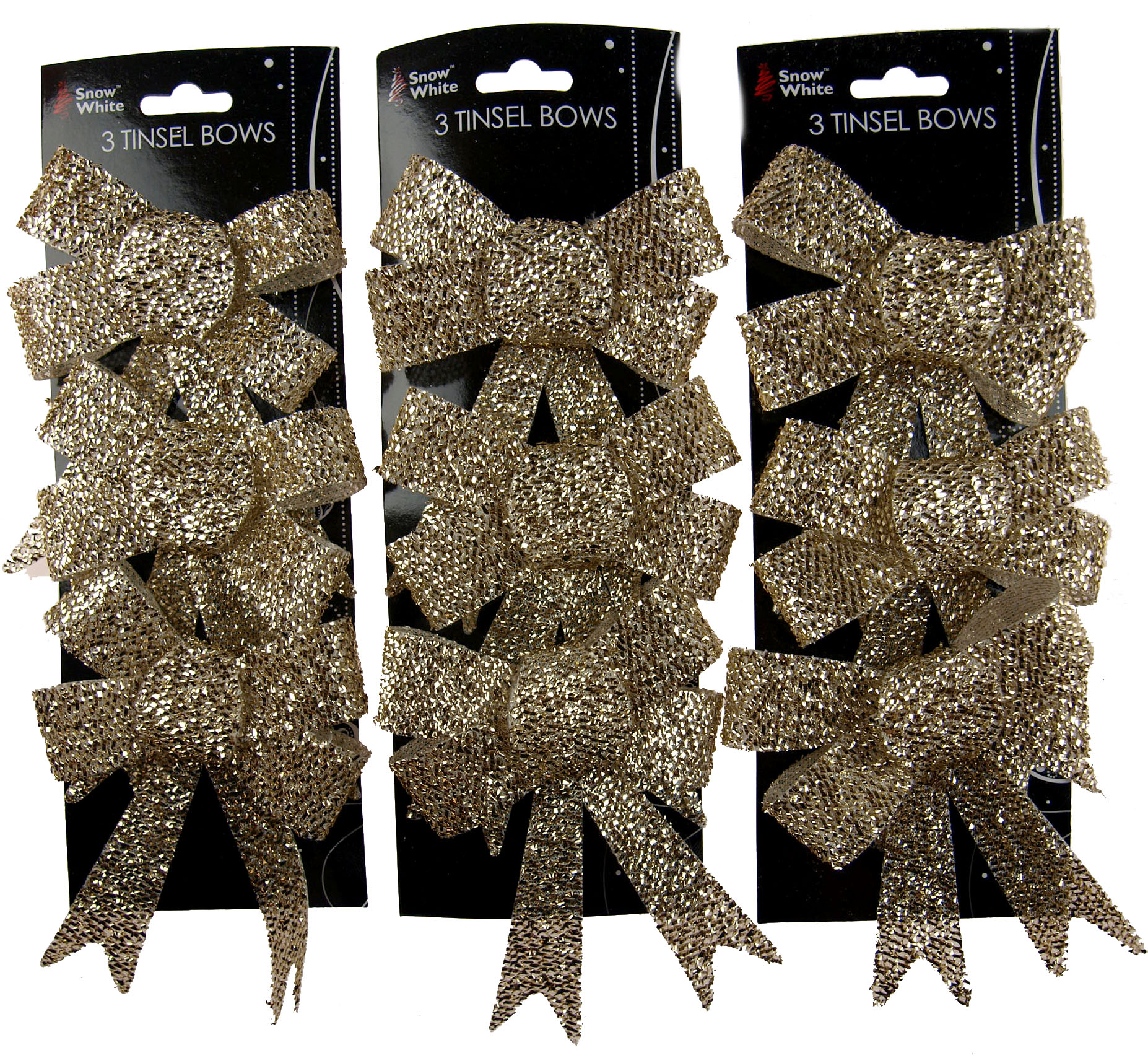 BWG Set Of 6 Large Glitter Poinsettia Clip On Christmas Craft//Tree Decorations WHITE