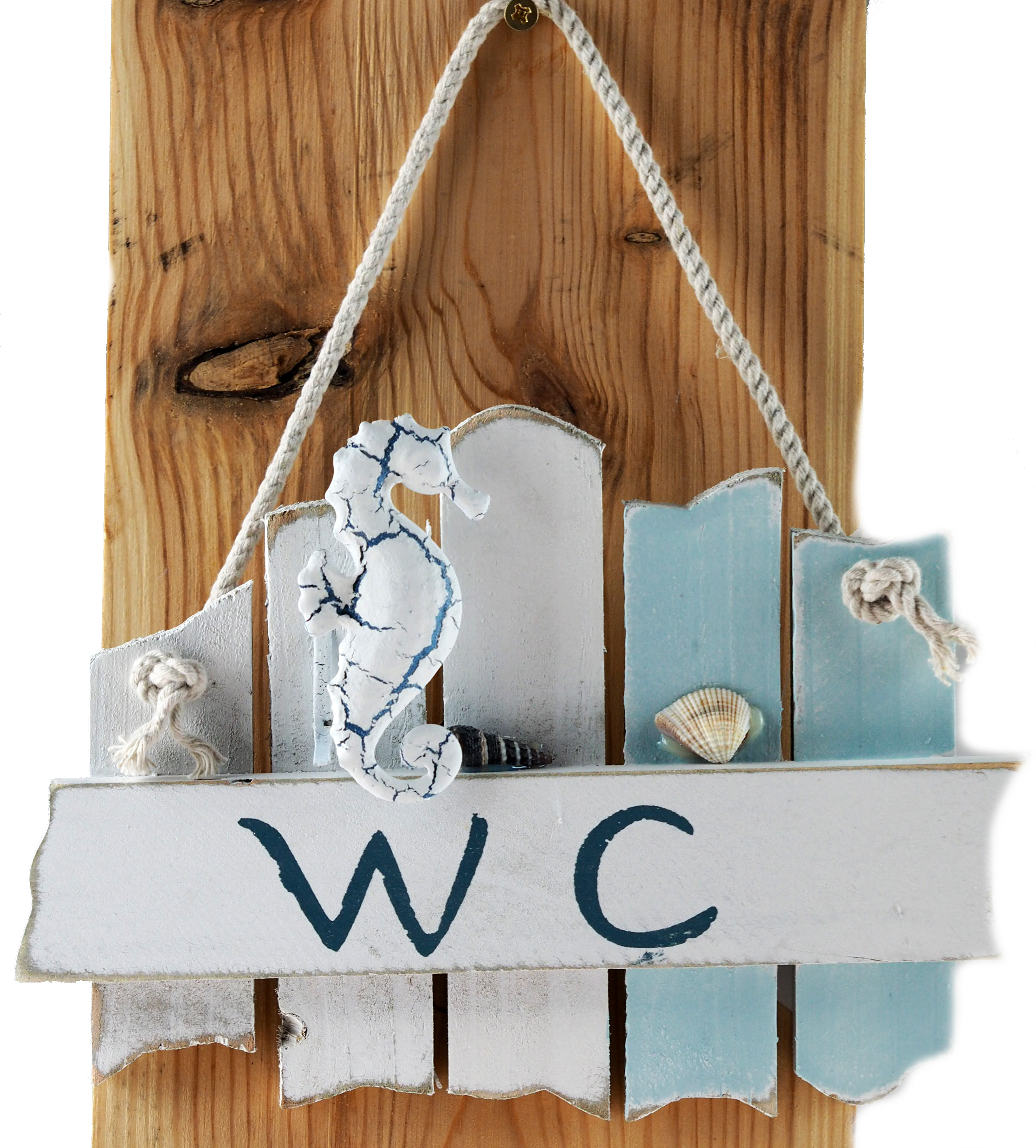 CHIC SHABBY DRIFTWOOD THE BATHROOM WC TOILET LOO NAUTICAL THEME CRAB DOOR  SIGN.