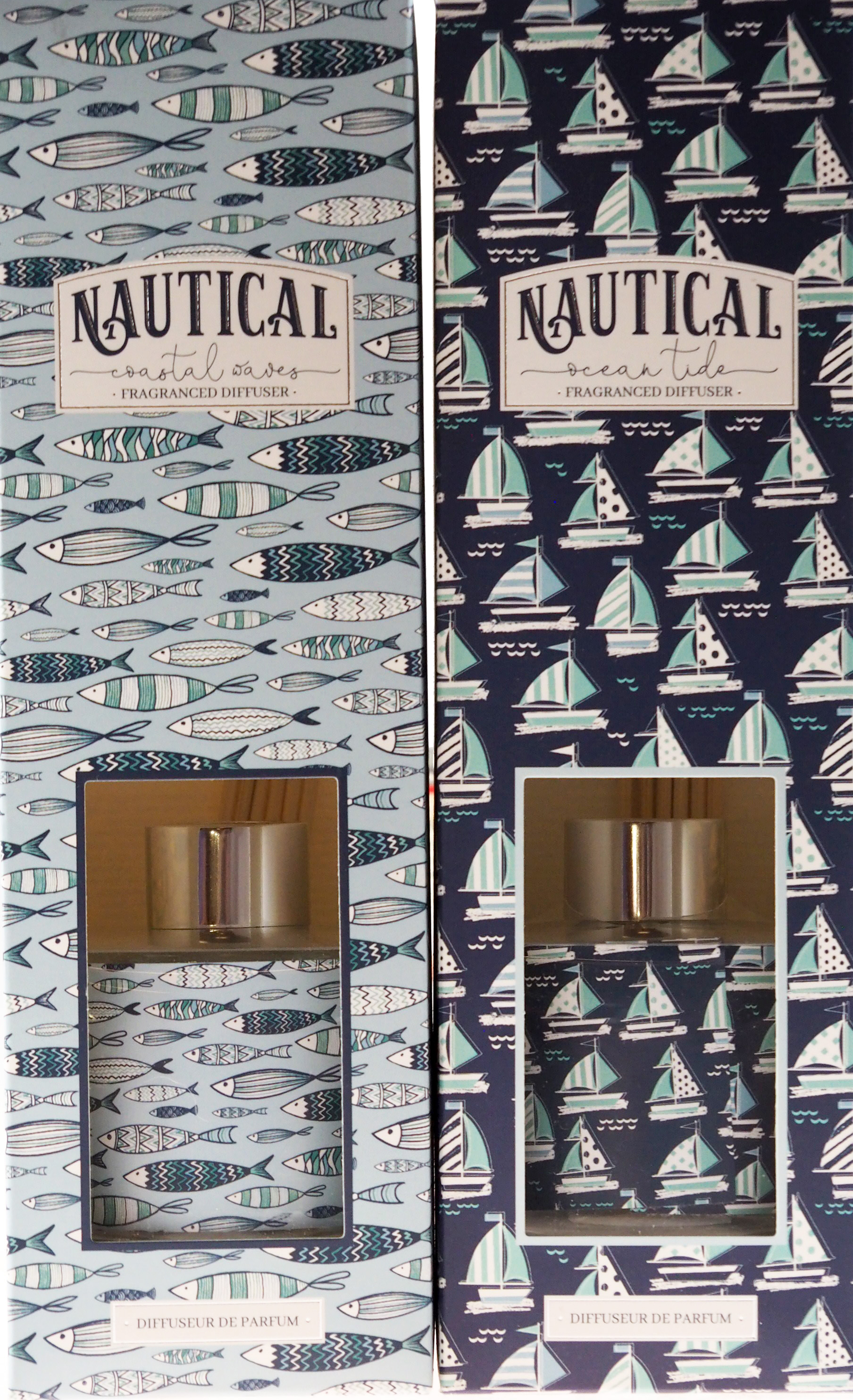 Set Of 2 Nautical Coastal Waves Ocean Tide 100ml Reed Diffuser In Gift Box Ebay