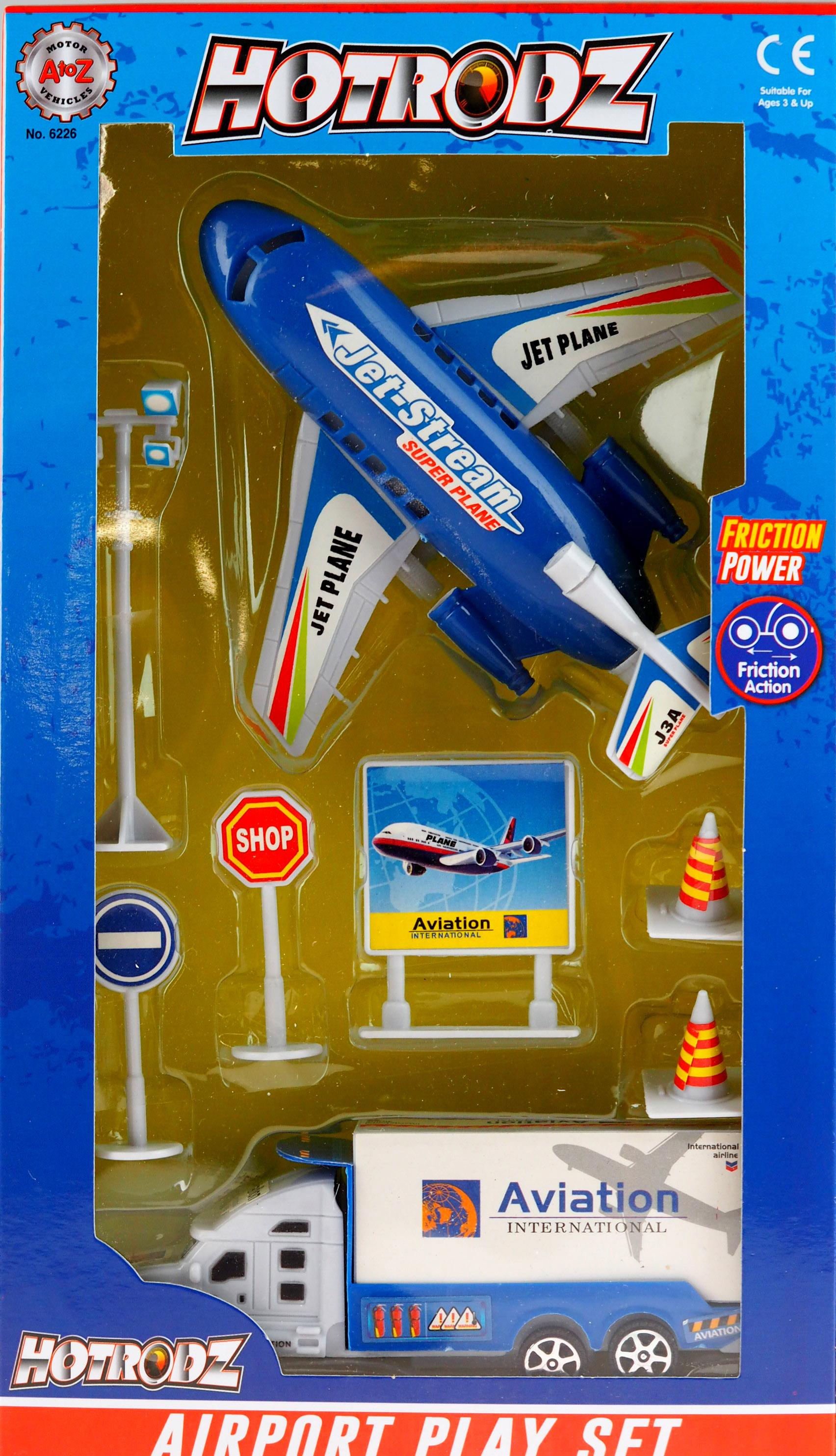 """Airport Play Set British Airways /""""12 Pieces/"""""""