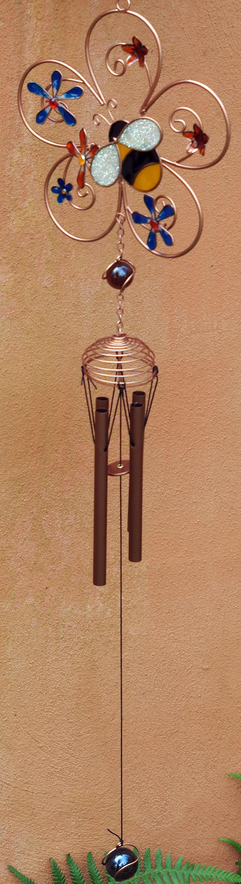 Large-Metal-amp-Glass-Hanging-Sun-Catcher-Wind-Chime-Home-Garden-Decorations thumbnail 43