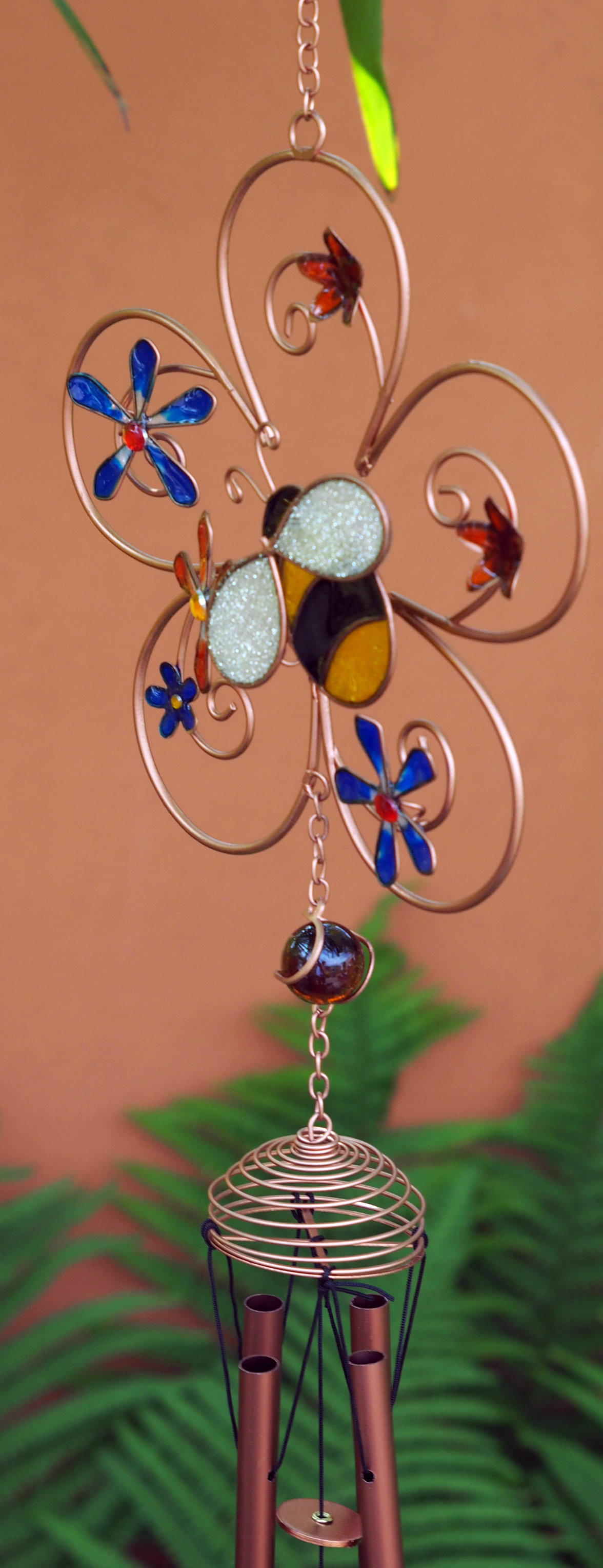 Large-Metal-amp-Glass-Hanging-Sun-Catcher-Wind-Chime-Home-Garden-Decorations thumbnail 42