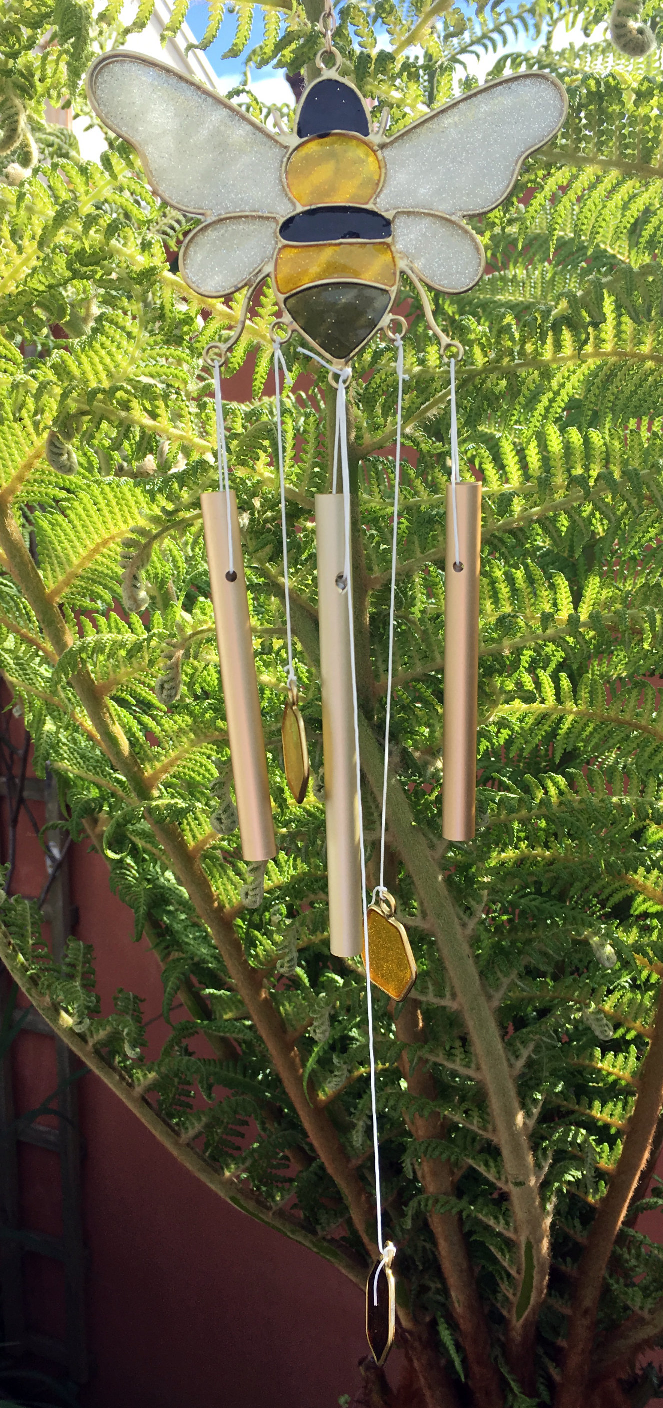 Large-Metal-amp-Glass-Hanging-Sun-Catcher-Wind-Chime-Home-Garden-Decorations thumbnail 38