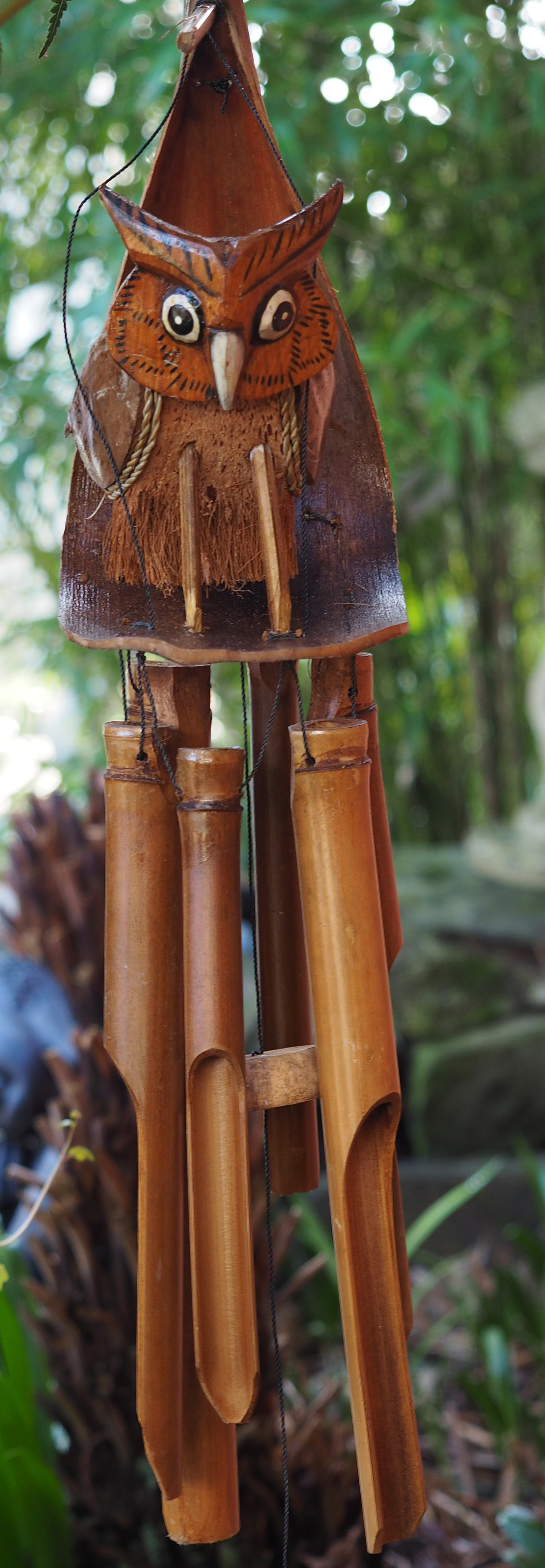 Large-Handmade-Fair-Trade-Coconut-And-Bamboo-Wind-Chime-Mobiles-6-Designs miniatuur 20