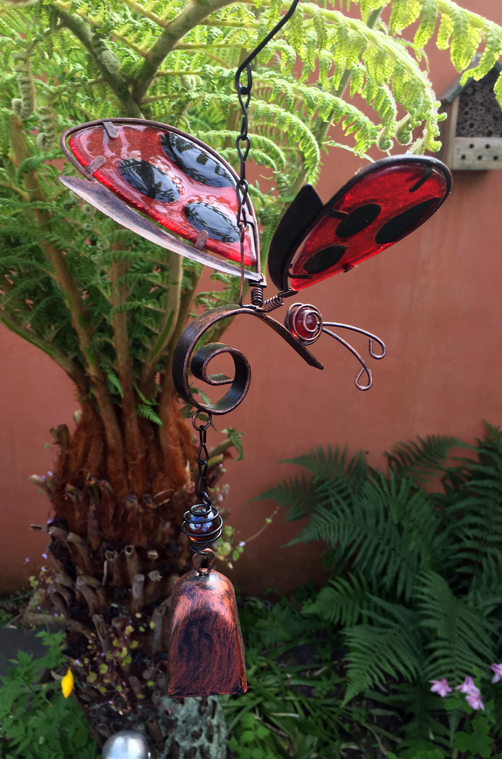 Large-Metal-amp-Glass-Hanging-Sun-Catcher-Wind-Chime-Home-Garden-Decorations thumbnail 8
