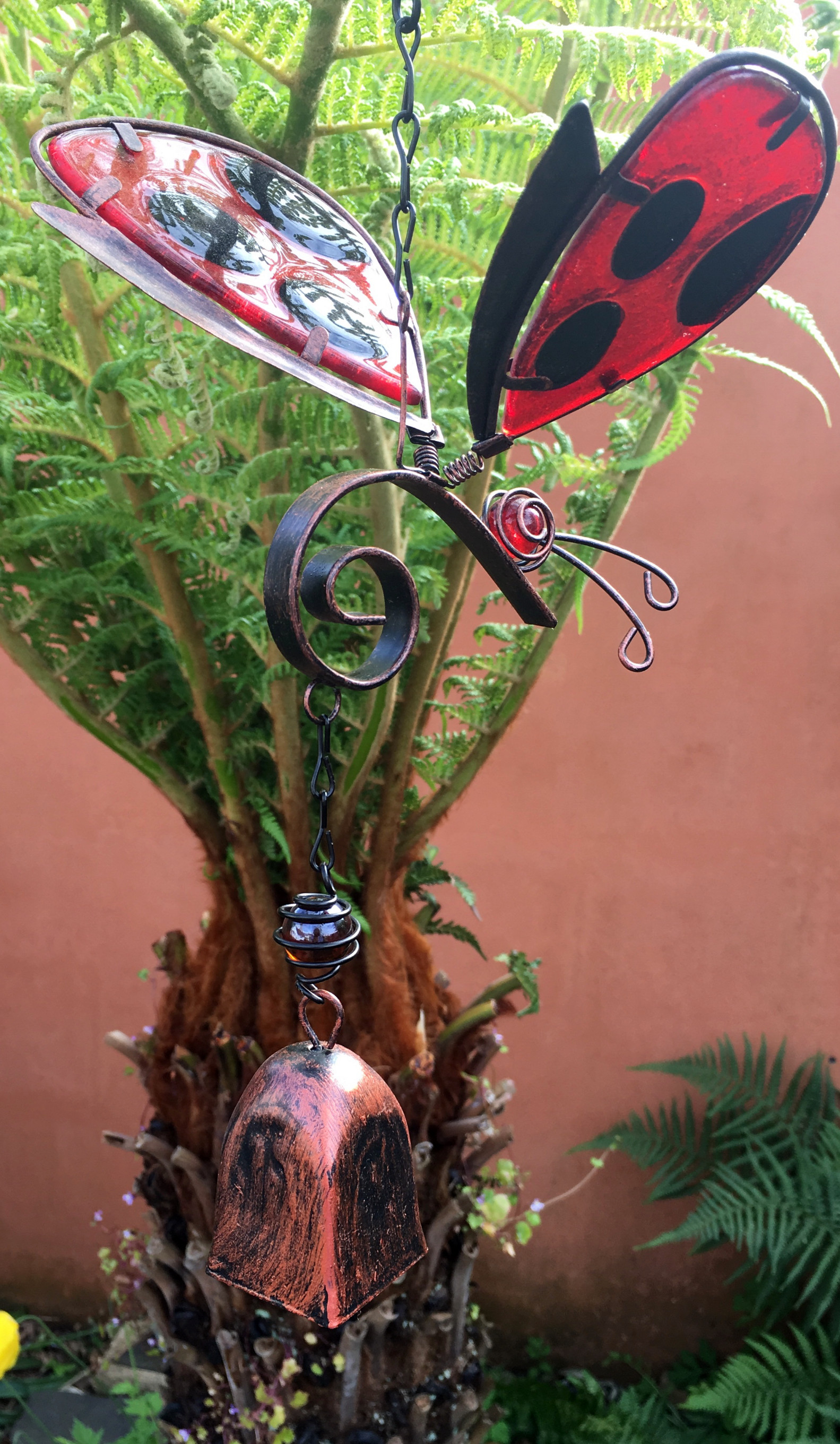 Large-Metal-amp-Glass-Hanging-Sun-Catcher-Wind-Chime-Home-Garden-Decorations thumbnail 7