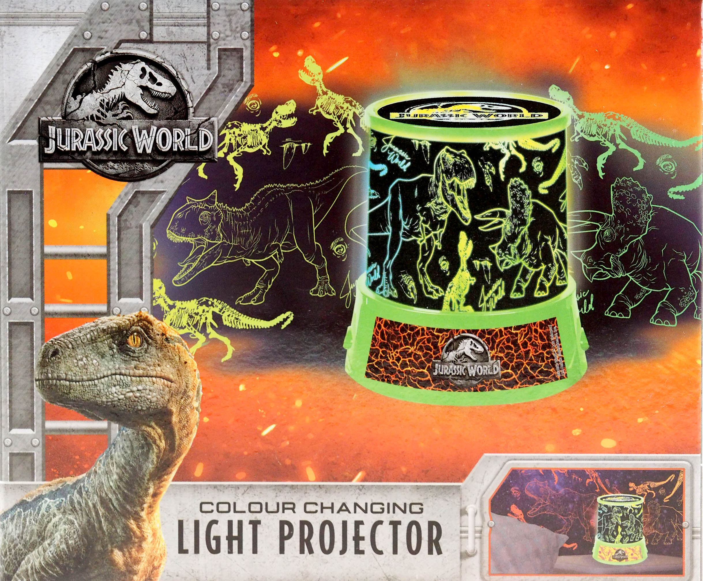 Jurassic World Dinosaur Led Light Projector Night Light