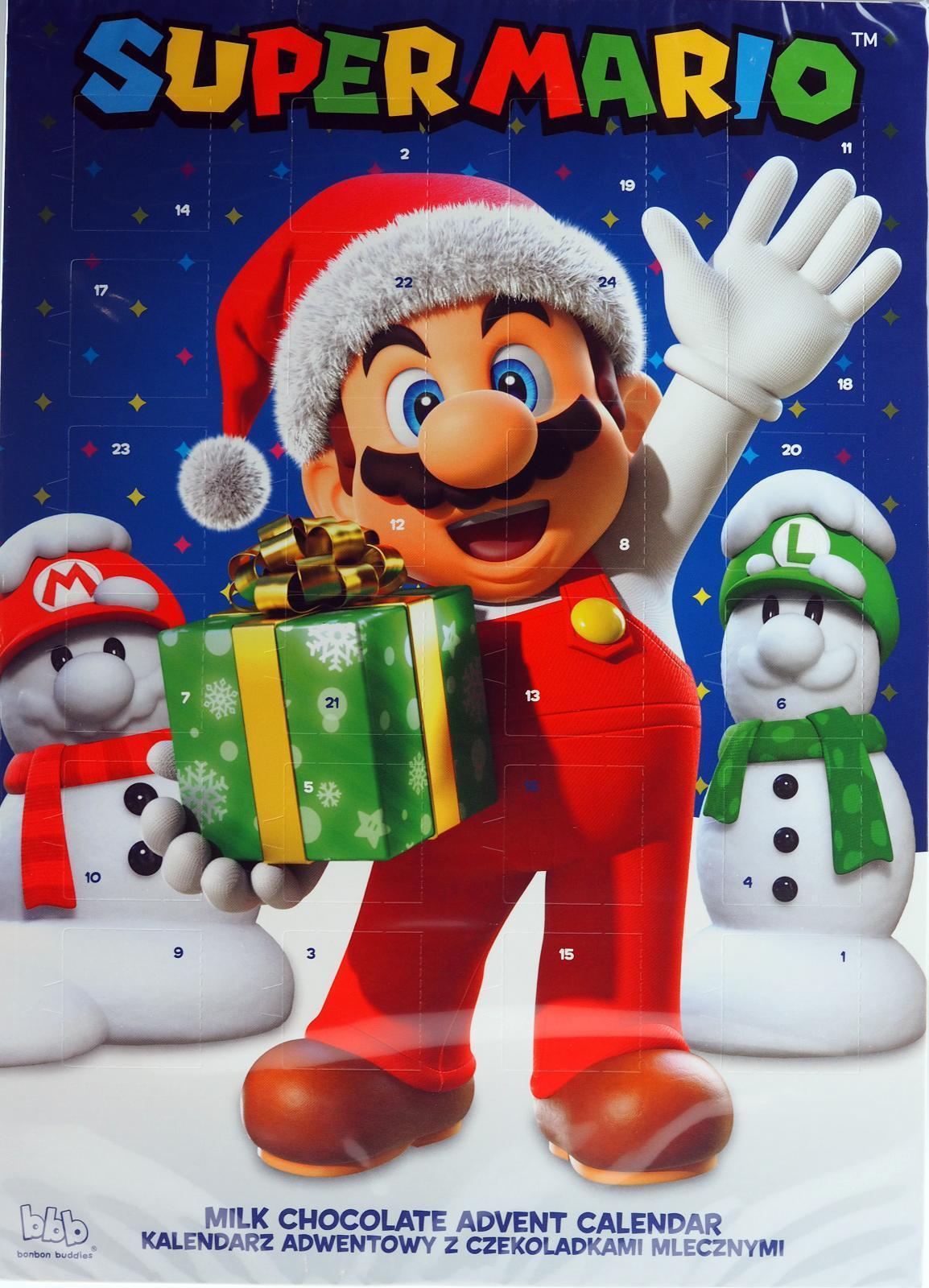 image of super mario christmas chocolate advent calendar