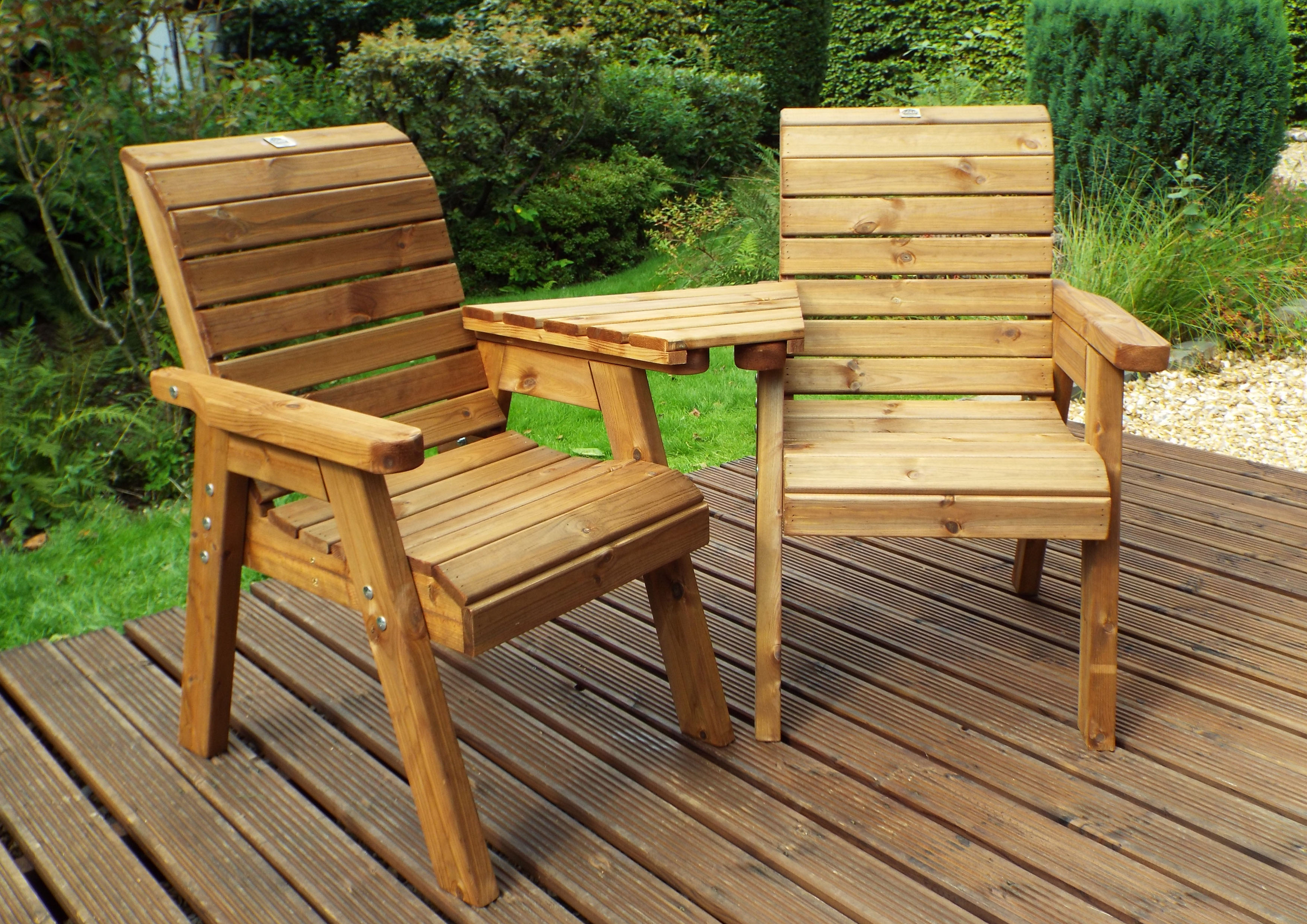 Charles Taylor Hand made Chunky Wooden Garden Furniture ...