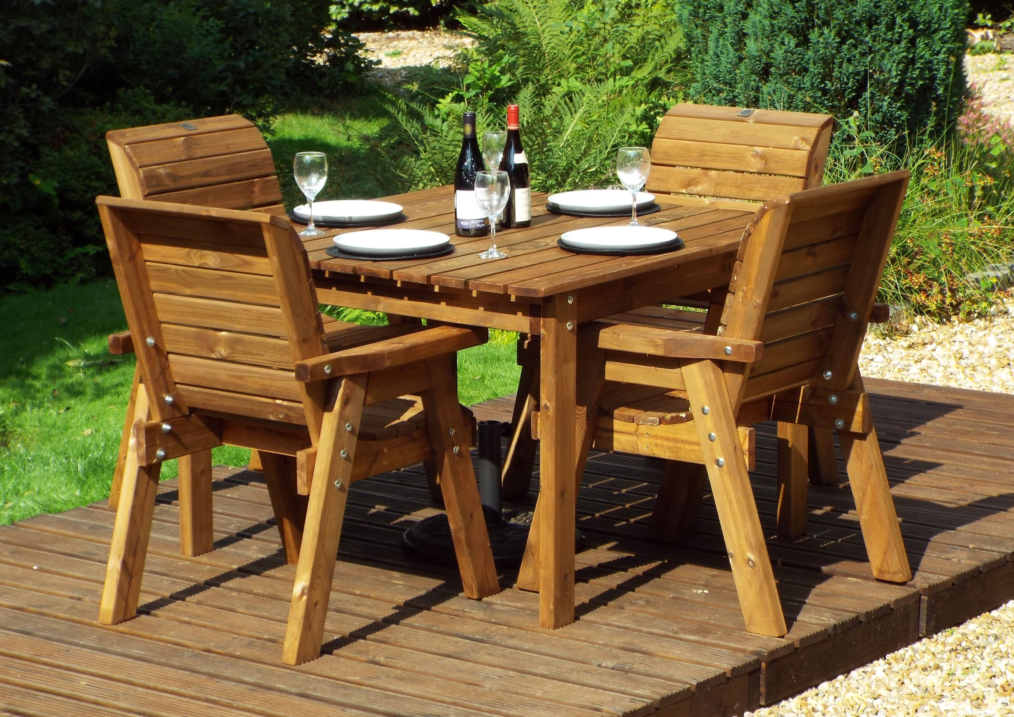 Details about Charles Taylor Gold Series Wooden Deluxe Garden Furniture 9  Seater Table Set