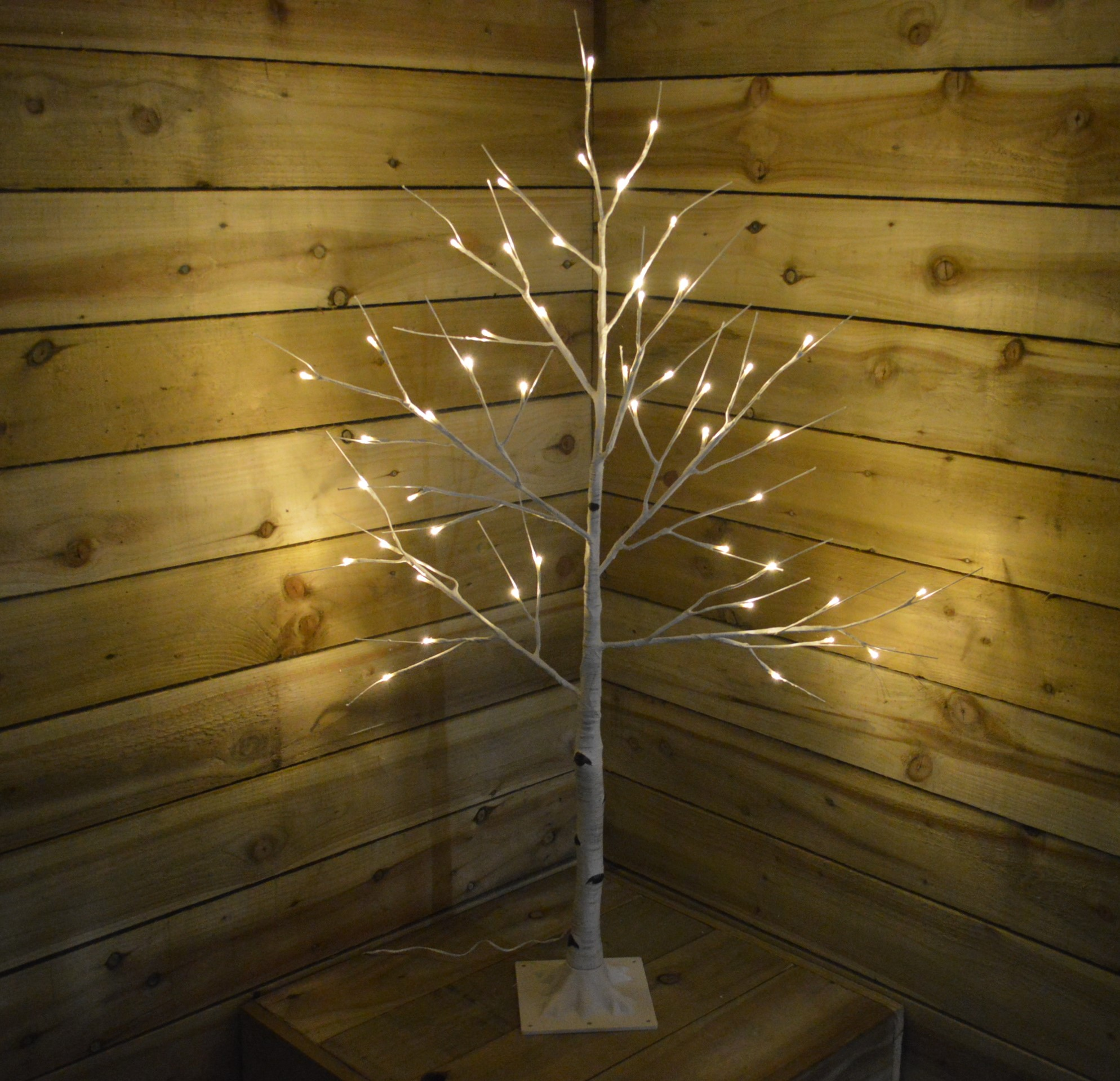 125M Indoor Outdoor Birch Tree With Warm White Led Lights