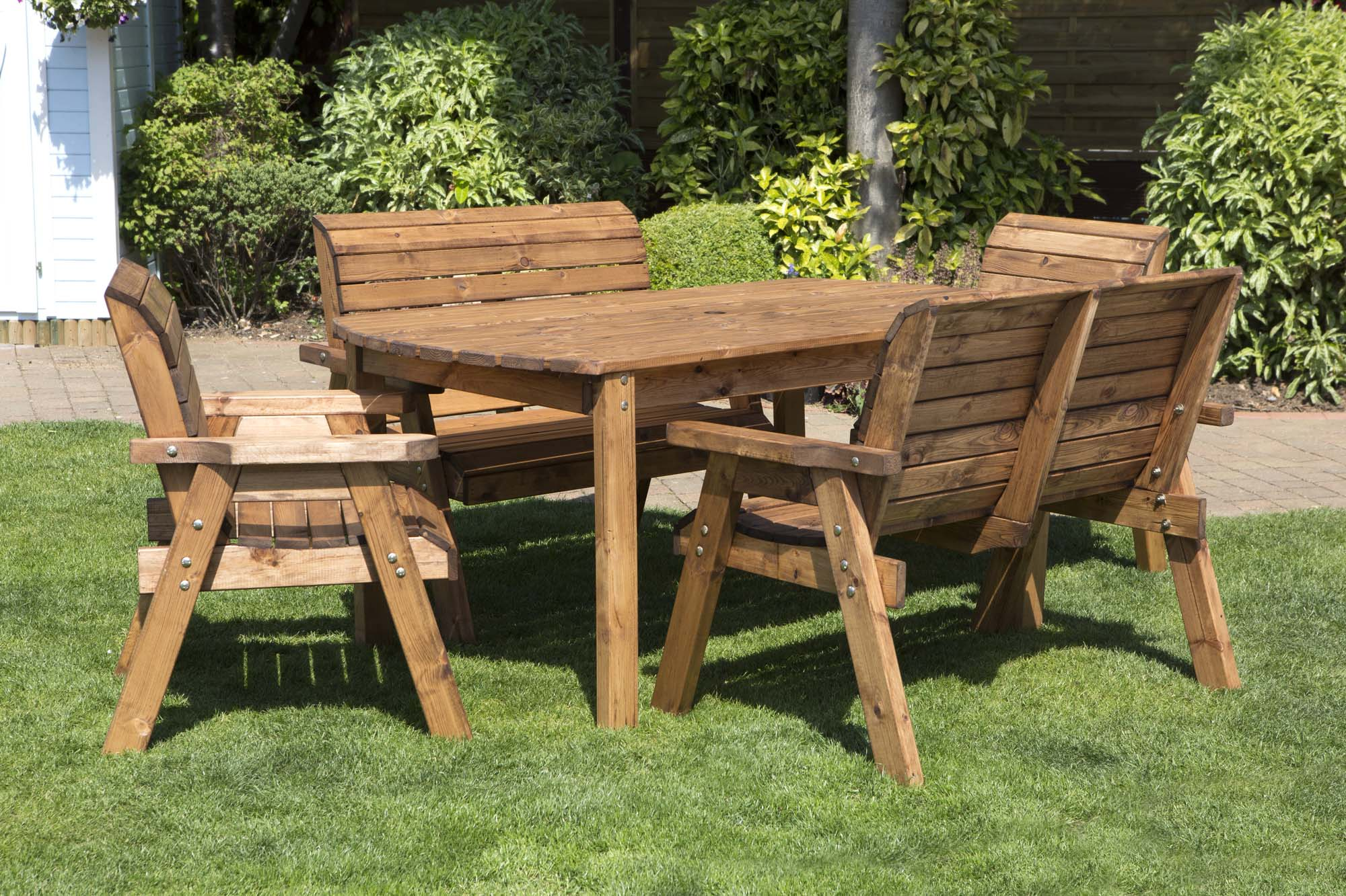 Chunky Rustic Wooden Garden Furniture