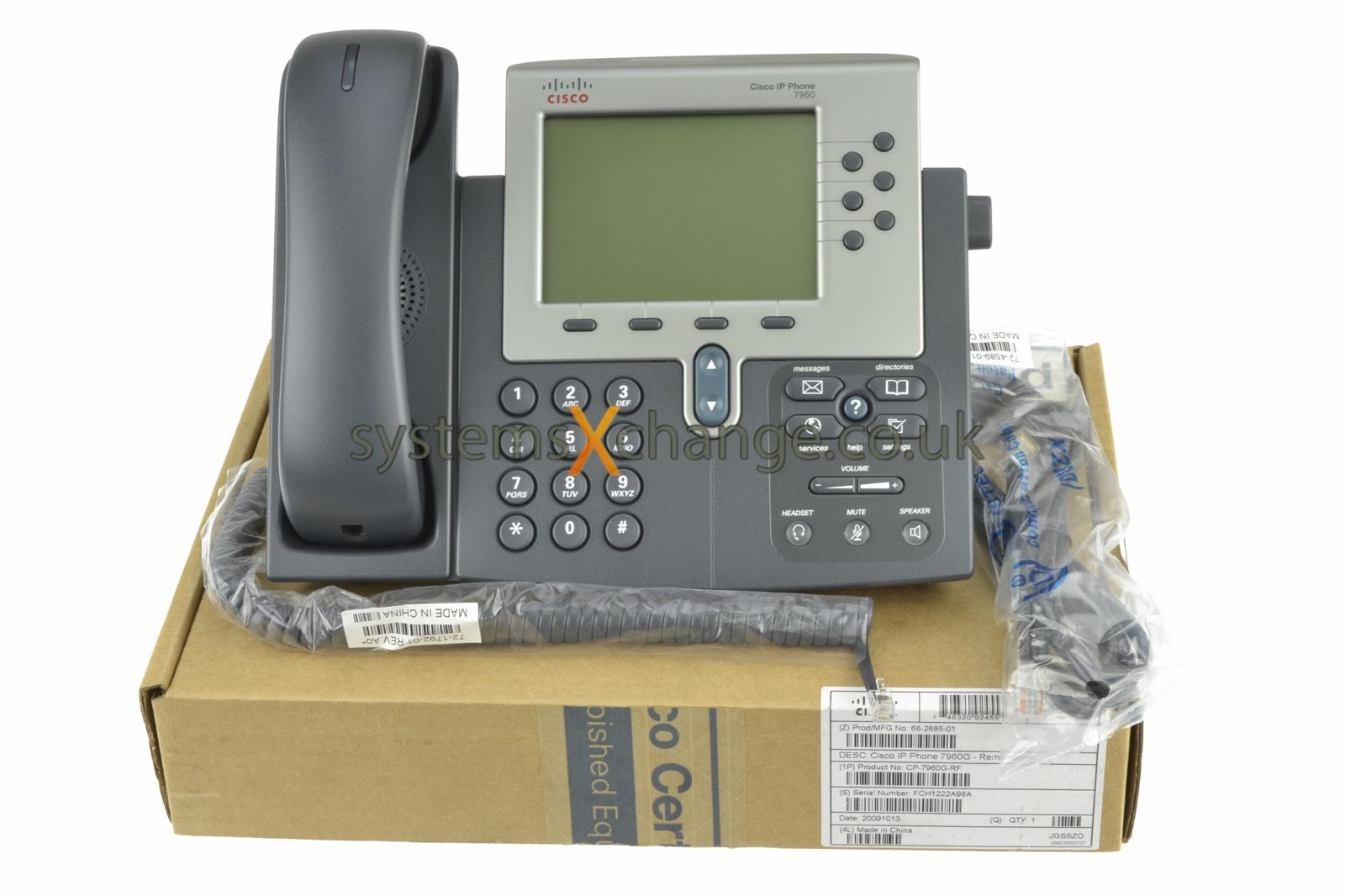 Cisco CP-7960G IP VoIP Multi-line Phone PoE Grade A with ...