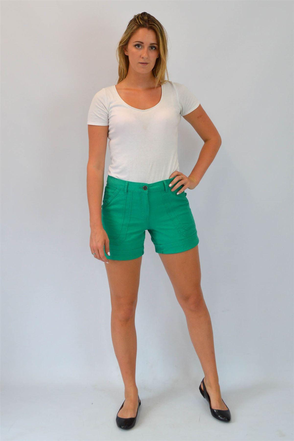 Ladies-Linen-Shorts-ex-Famous-UK-Brand-SALE-RRP-22