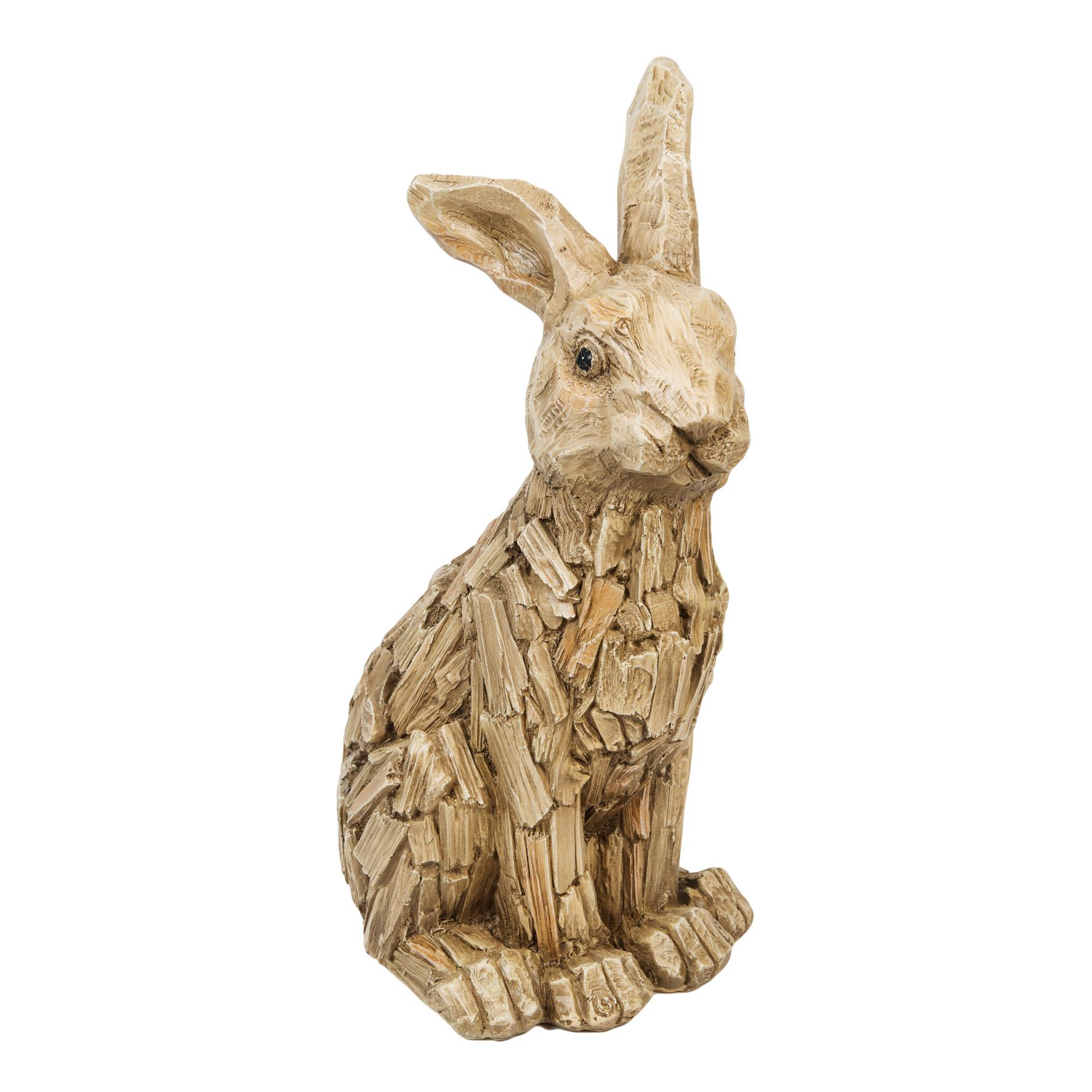 Large Sitting Hare Statue Rabbit Bunny Garden Statue Ornament 46cm
