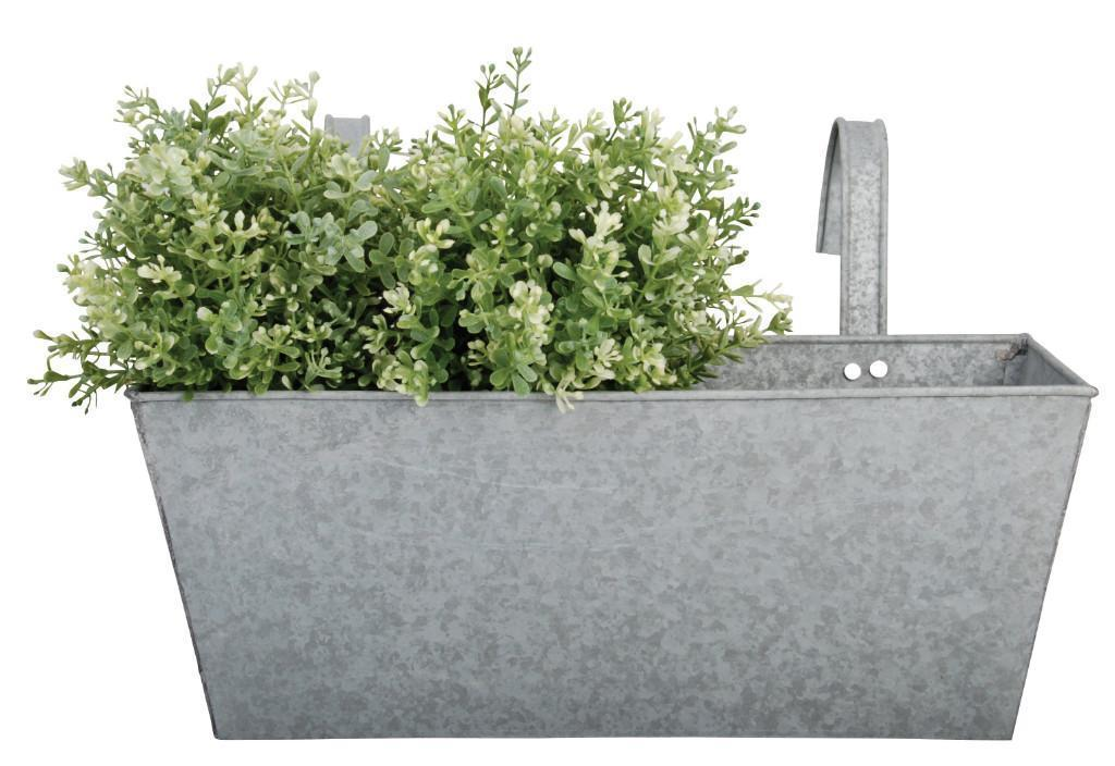 Zinc Balcony Planter Metal Pot Holder Flowerpot Window Box Ebay
