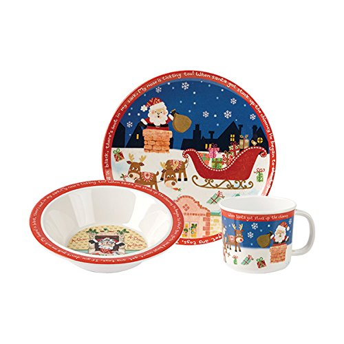 ... Picture 2 of 2  sc 1 st  eBay & Churchill Christmas Santa 3 Piece Melamine Gift Set Bowl Cup Plate ...