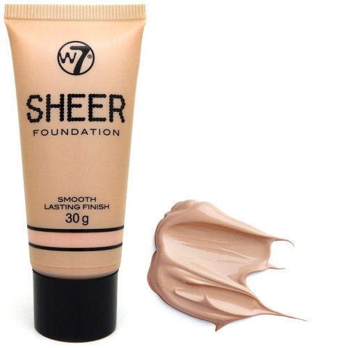 W7 Sheer Coverage Foundation - Flawless Liquid Face Fair ...