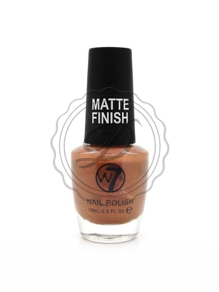 W7 Nail Polish - Matte Copper - No Shine Nails Varnish Bronze Brown ...