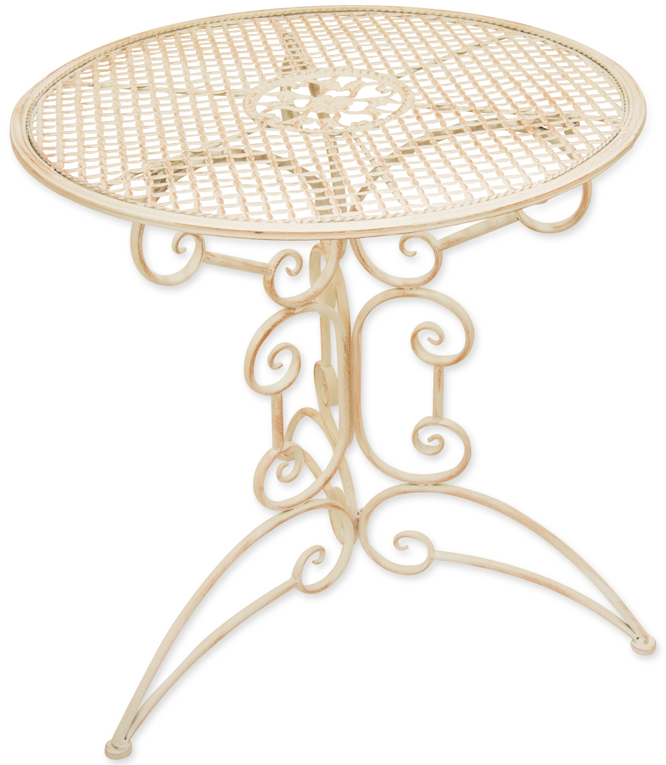 Details About Woodside Small Round Outdoor Metal Coffee Table Garden Furniture