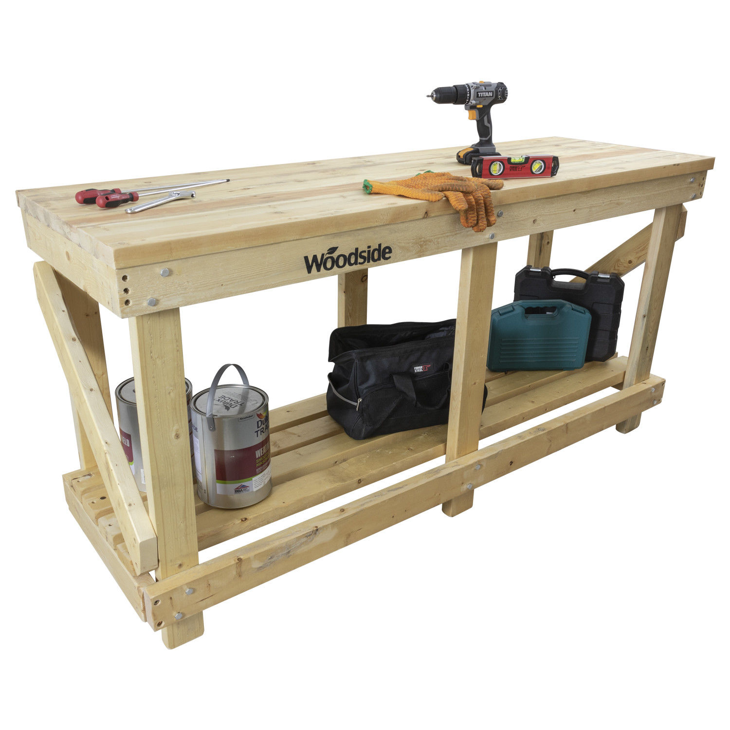 Remarkable Details About Woodside Heavy Duty 1 8M Industrial Wooden Work Bench Table Station Lamtechconsult Wood Chair Design Ideas Lamtechconsultcom