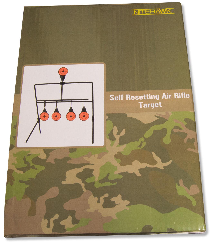 Nitehawk Self réinitialisation spinner air rifle metal practice shooting target set