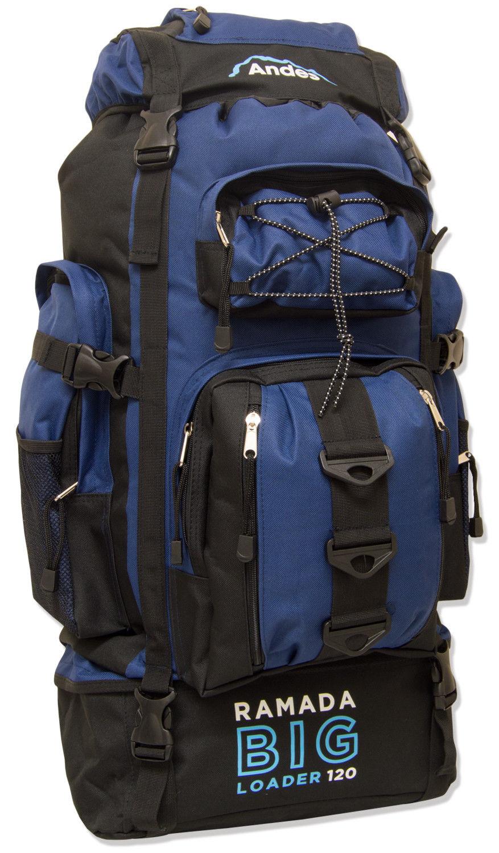 extra large 120 l travel backpack hiking camping rucksack. Black Bedroom Furniture Sets. Home Design Ideas