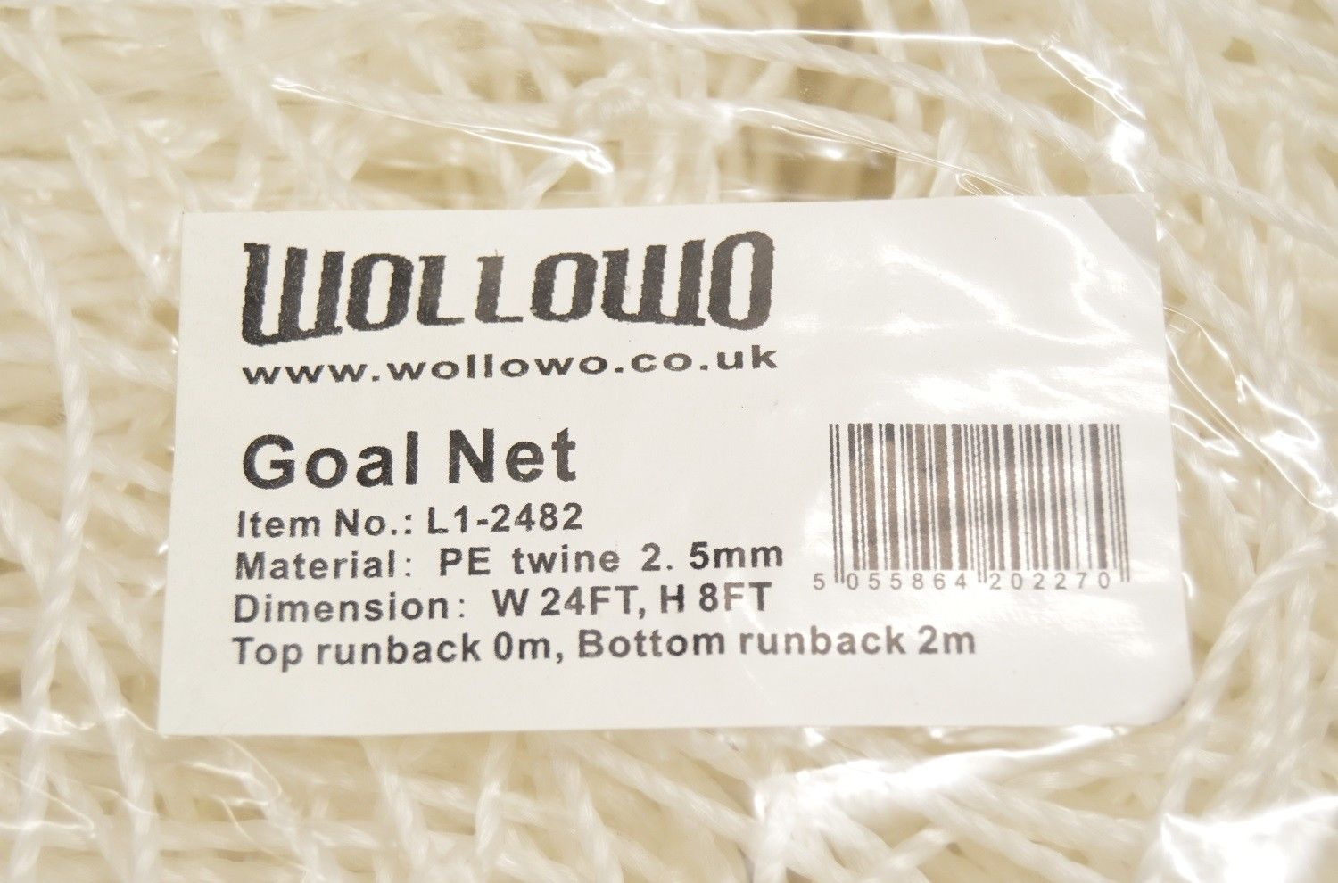 Wollowo 24ft x 8ft Football//Soccer Goal Replacement Net Fits Full Size Goal