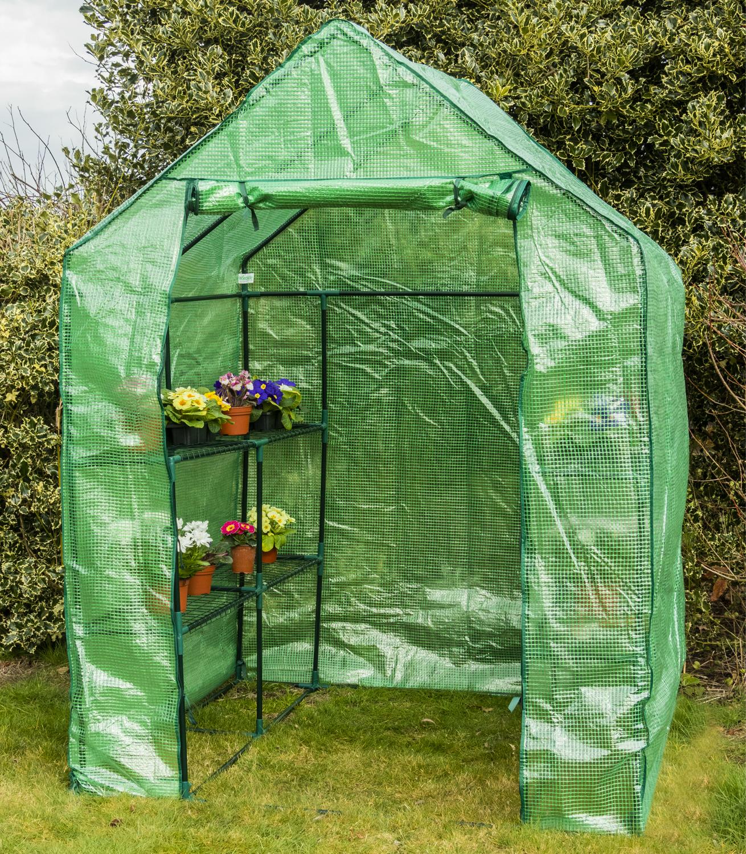 Woodside Walk In Garden Grünhouse 8 Shelf Pot Plant Growhouse with PE