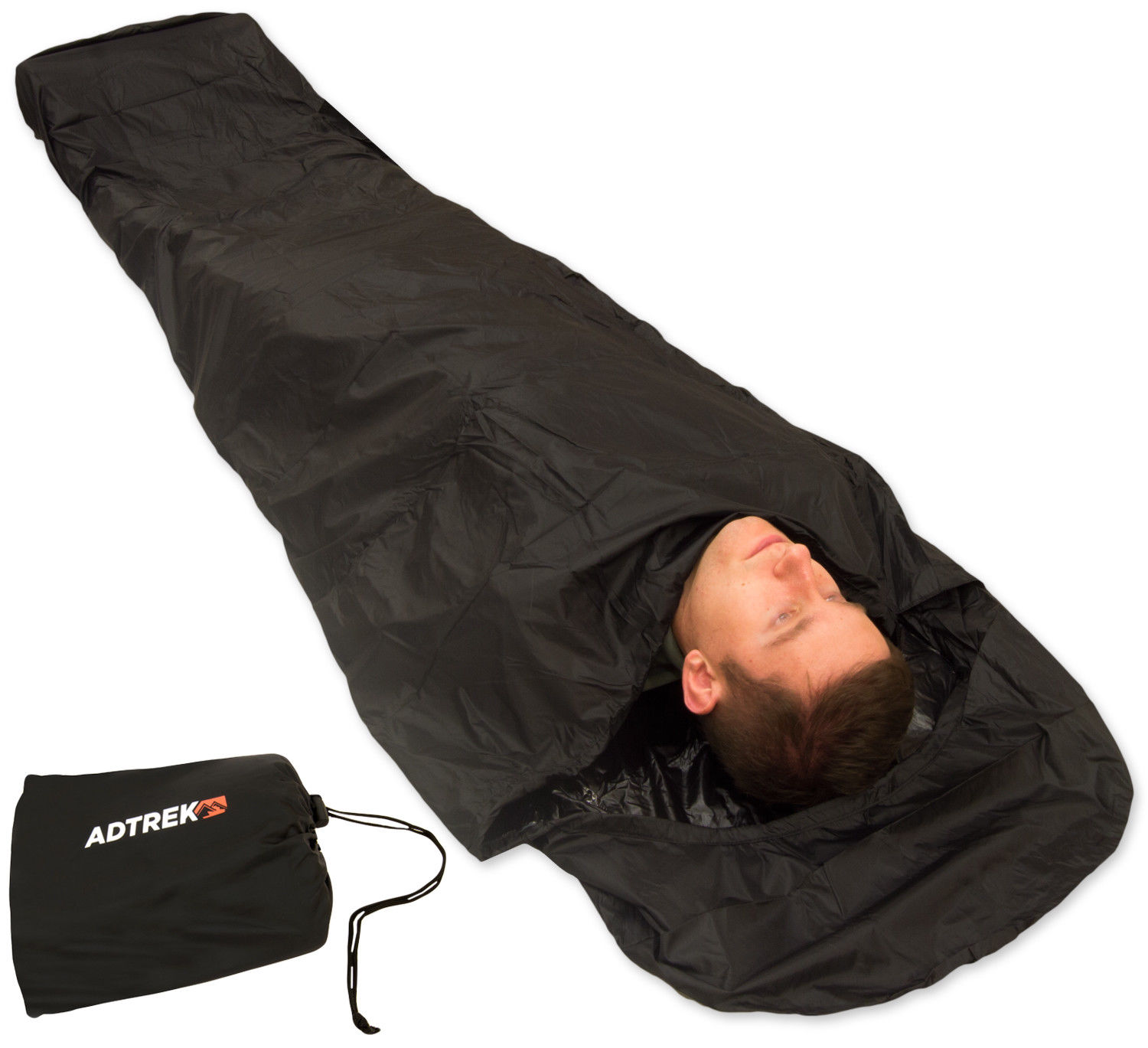 Details About Adtrek Camping Fishing Waterproof Sleeping Bag Bivvy Cover 290t With Zip