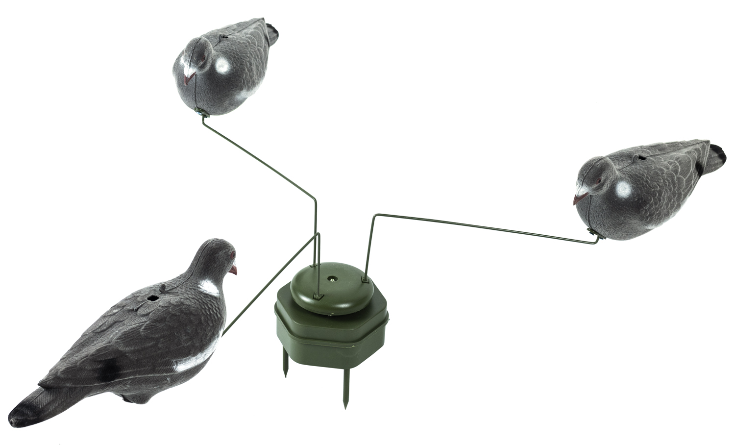 Triple PIGEON ROTARY Magnet Hunting Decoys Shooting TACTICAL Stalking Hide Fox
