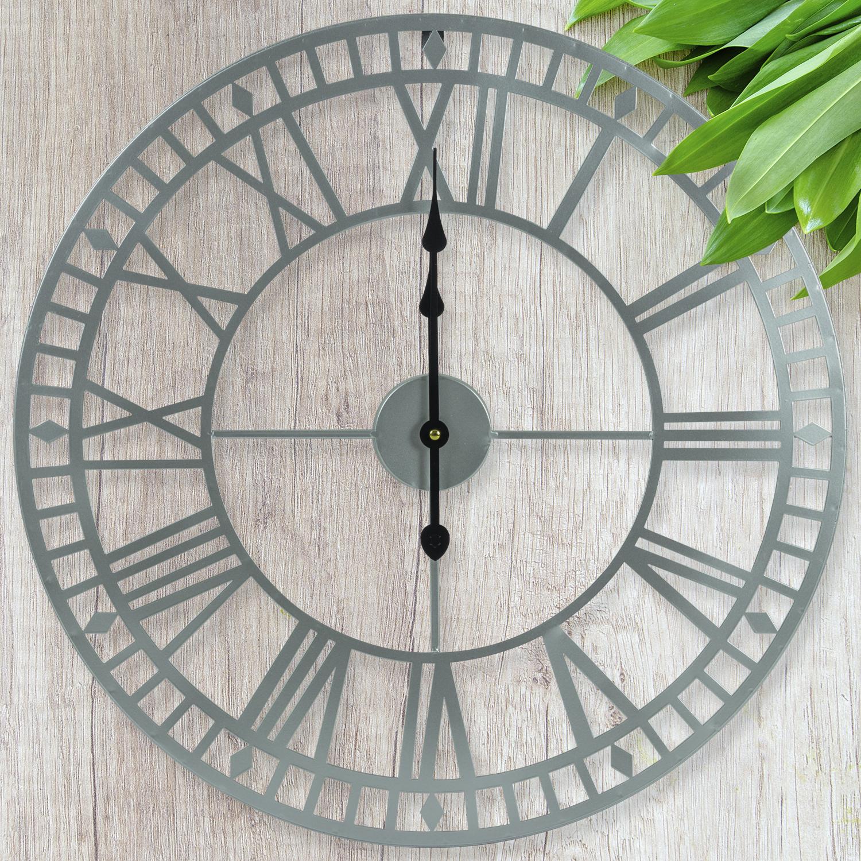 Elegant Roman Numerals Cute Cat Clock Statue with Moving Eyes