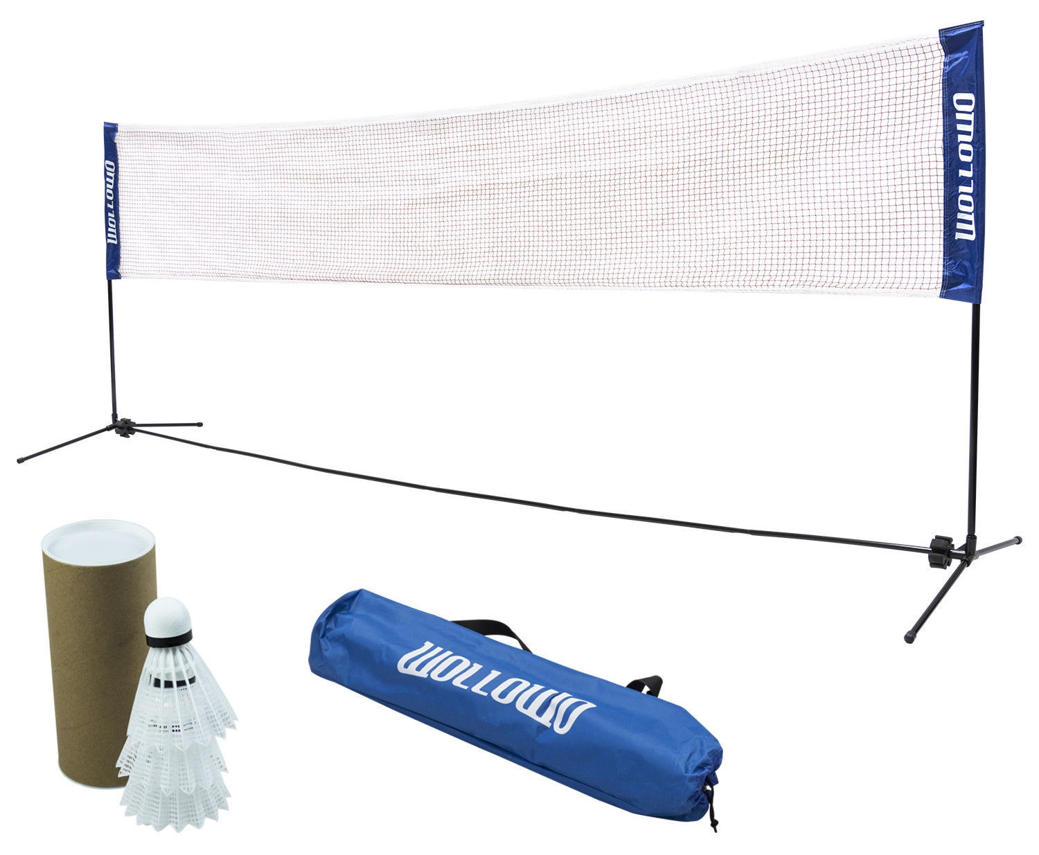 HOMCOM 4m Adjustable Foldable Portable Sports Net Set for Badminton Tennis Volleyball with Carry Bag Easy to Set Up